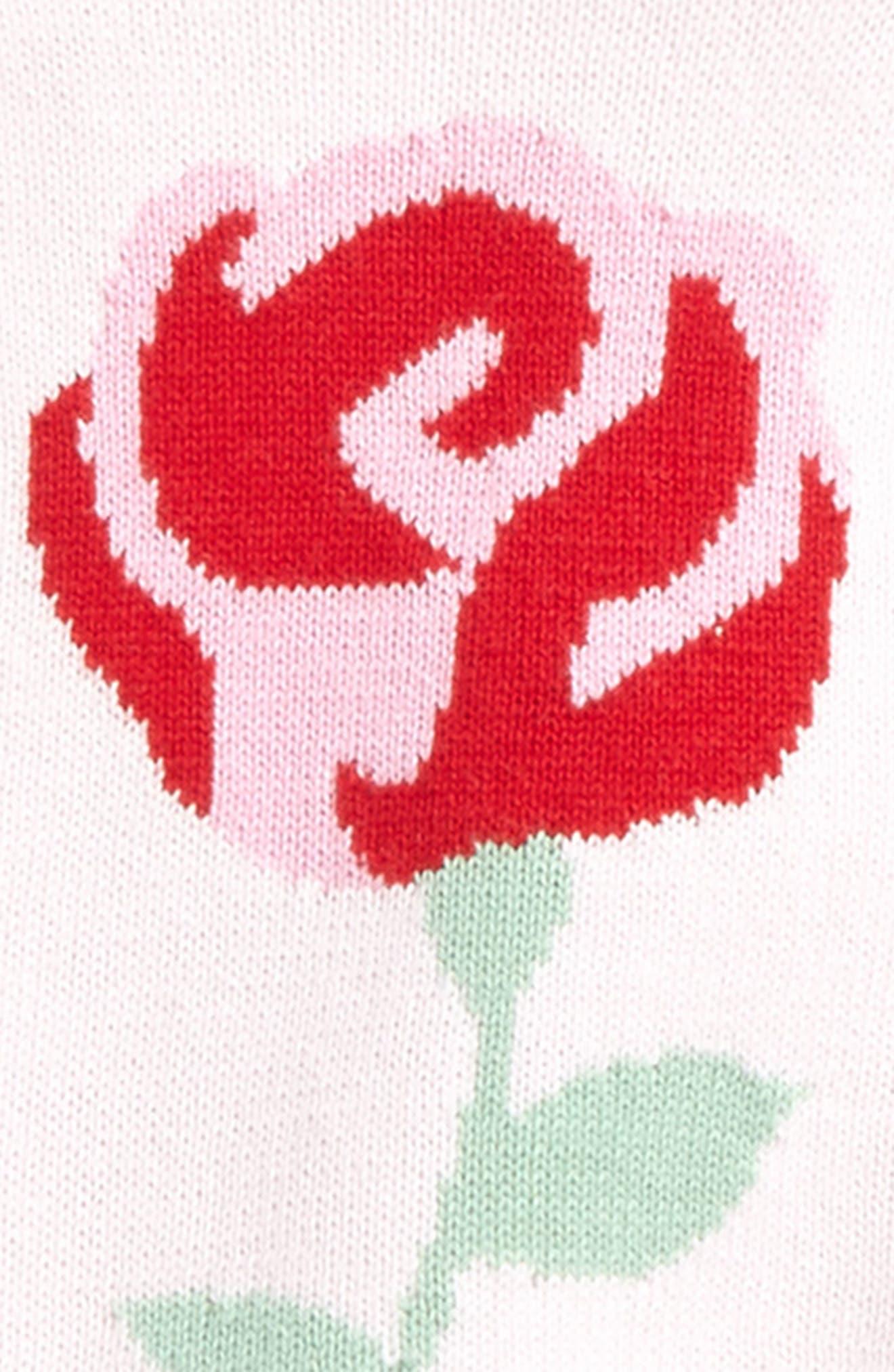 kate spade intarsia rose sweater & leggings set,                             Alternate thumbnail 2, color,                             680