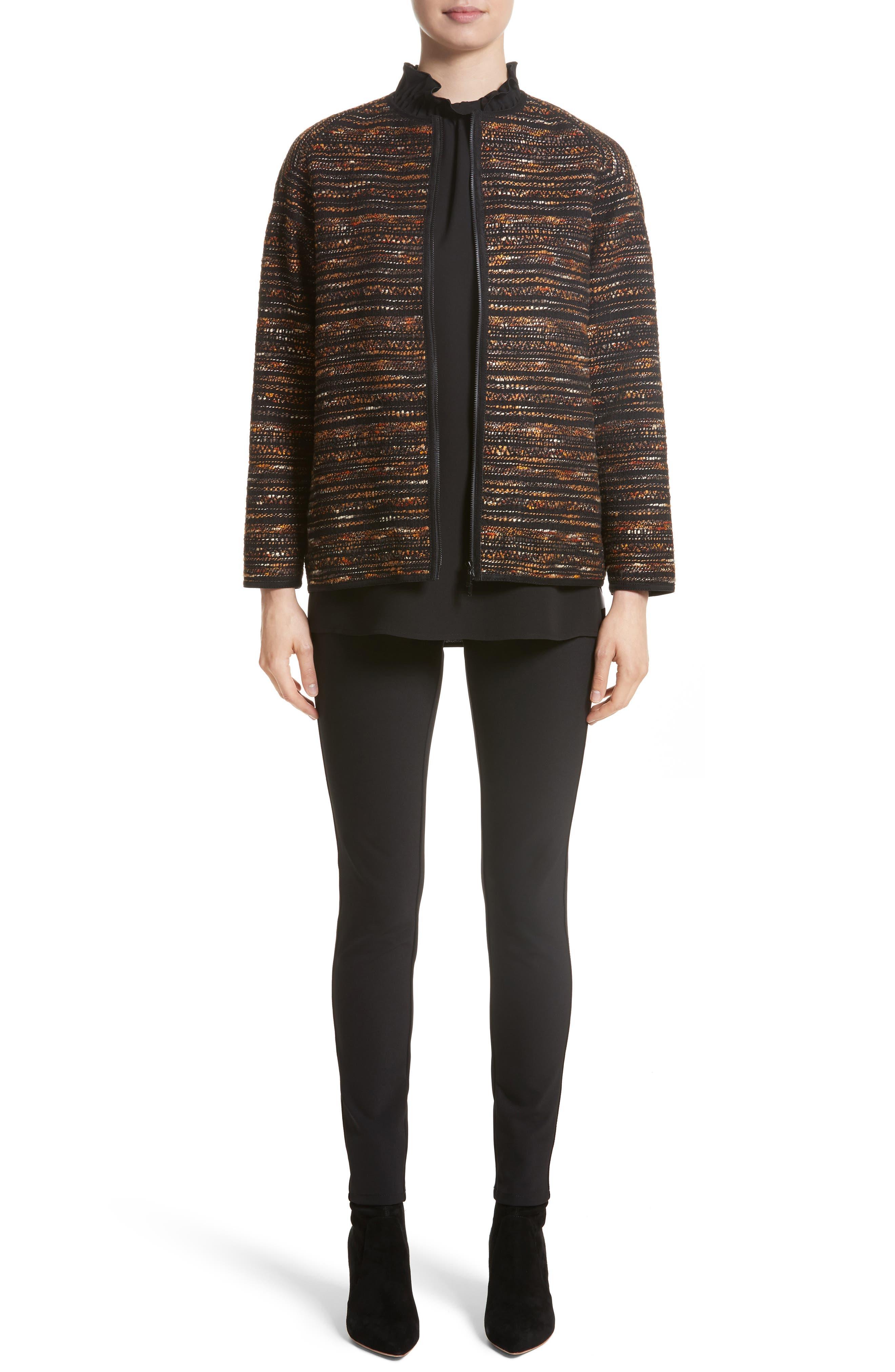 Alexa Tweed Jacket,                             Alternate thumbnail 7, color,