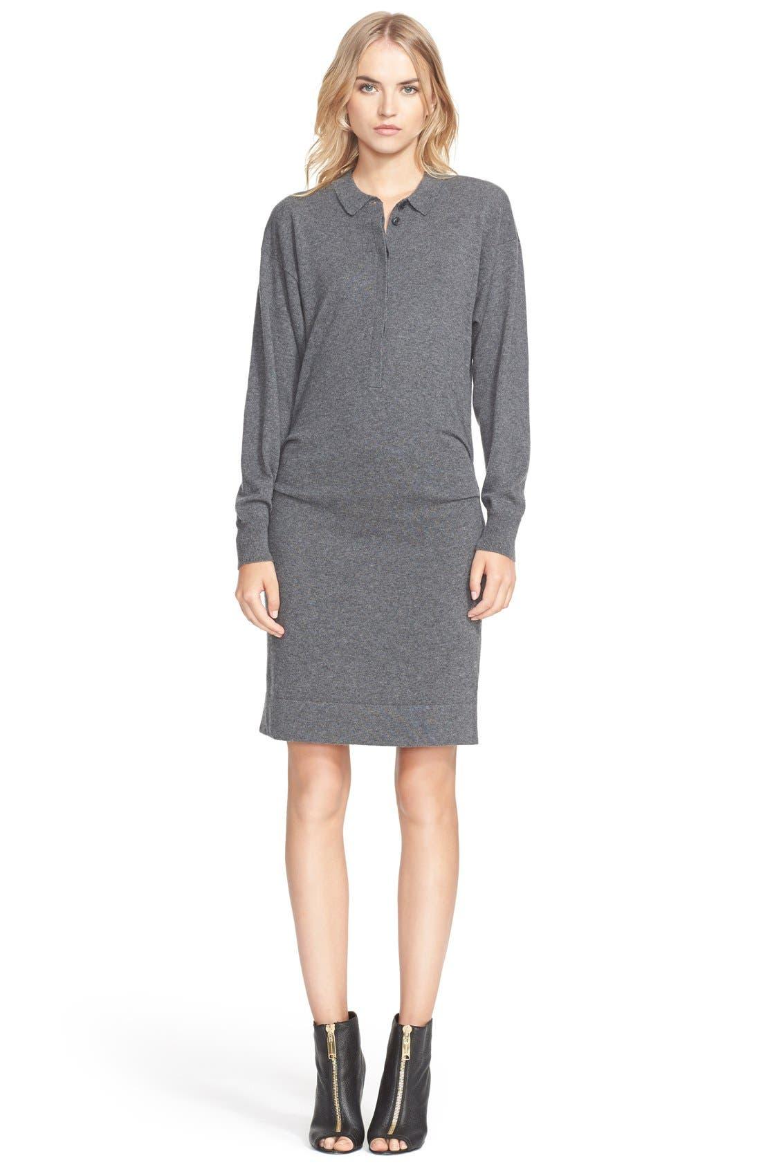 Cashmere & Cotton Sweater Dress, Main, color, 024