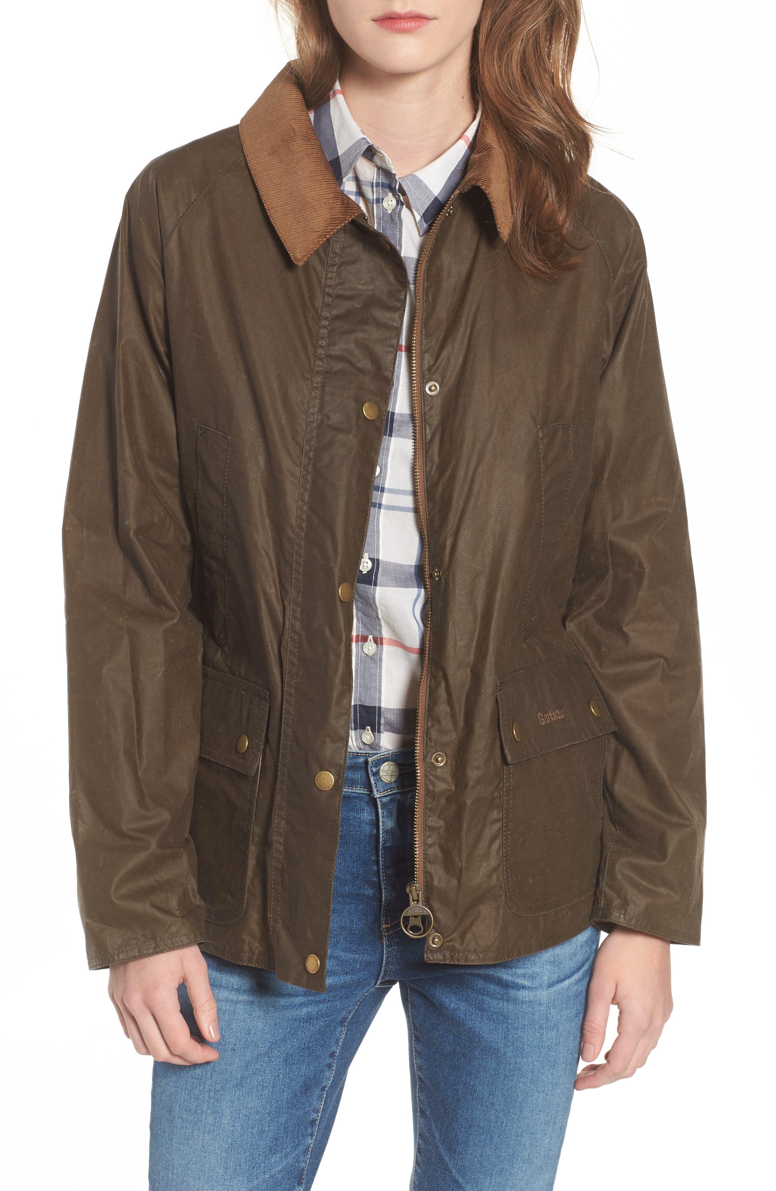 Acorn Water Resistant Waxed Cotton Jacket,                             Main thumbnail 1, color,                             230