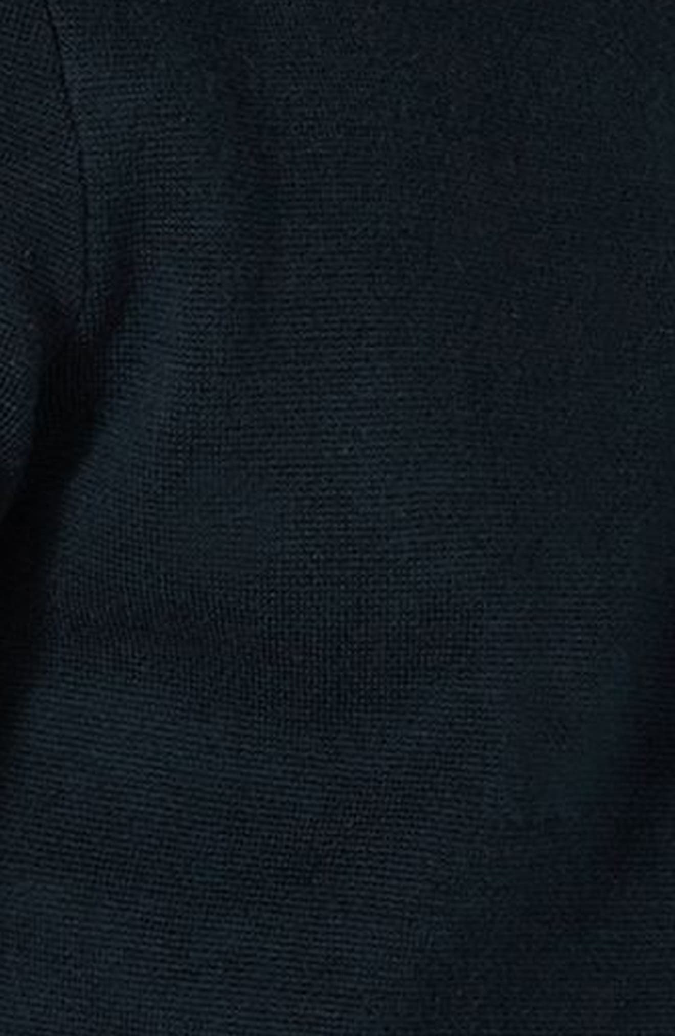 TOPMAN,                             Stripe Knit Zip Front Harrington Sweatshirt,                             Alternate thumbnail 3, color,                             410