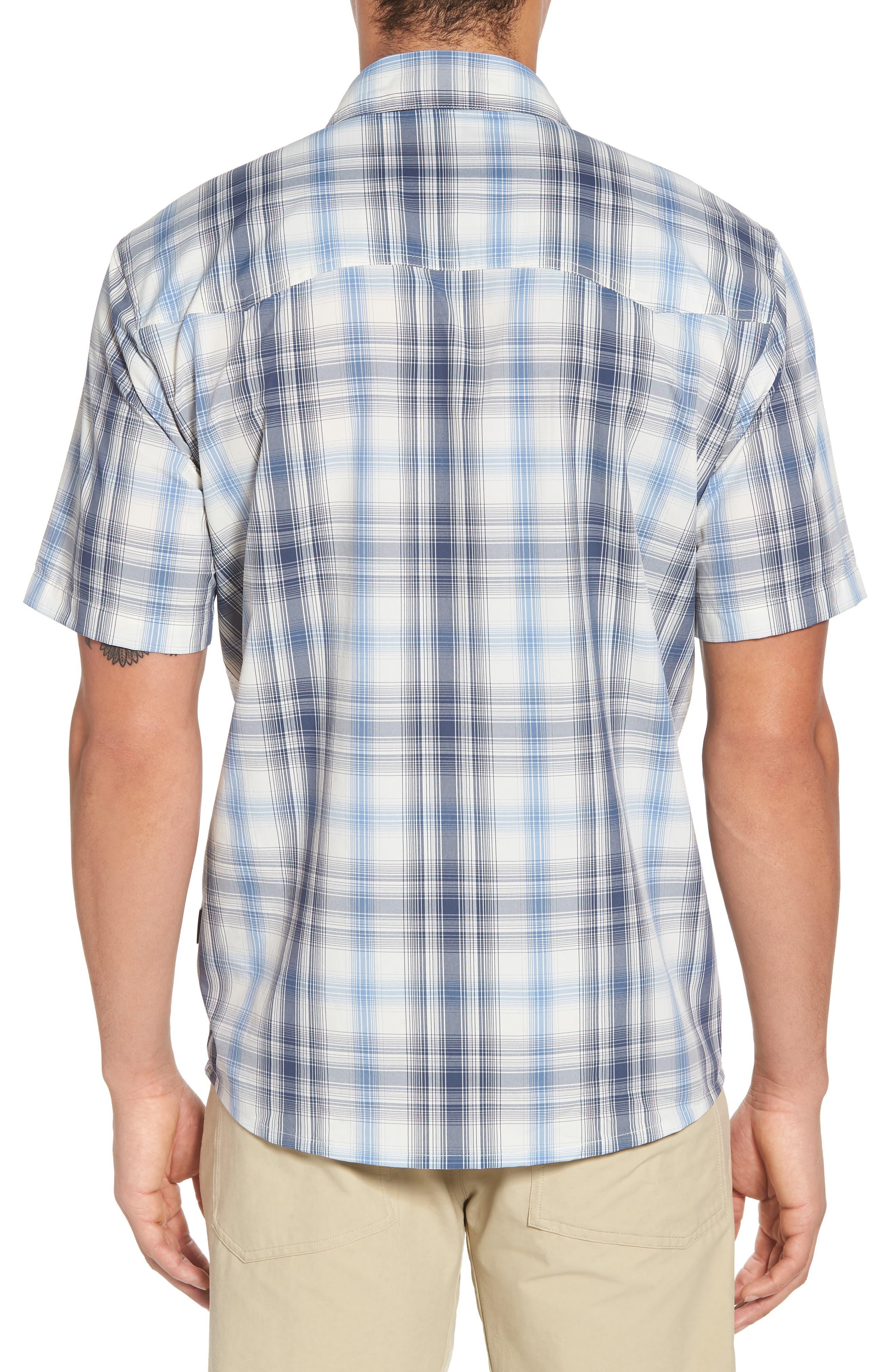 M's Sun Plaid Stretch Hybrid Shirt,                             Alternate thumbnail 2, color,                             KING SWING RADAR BLUE