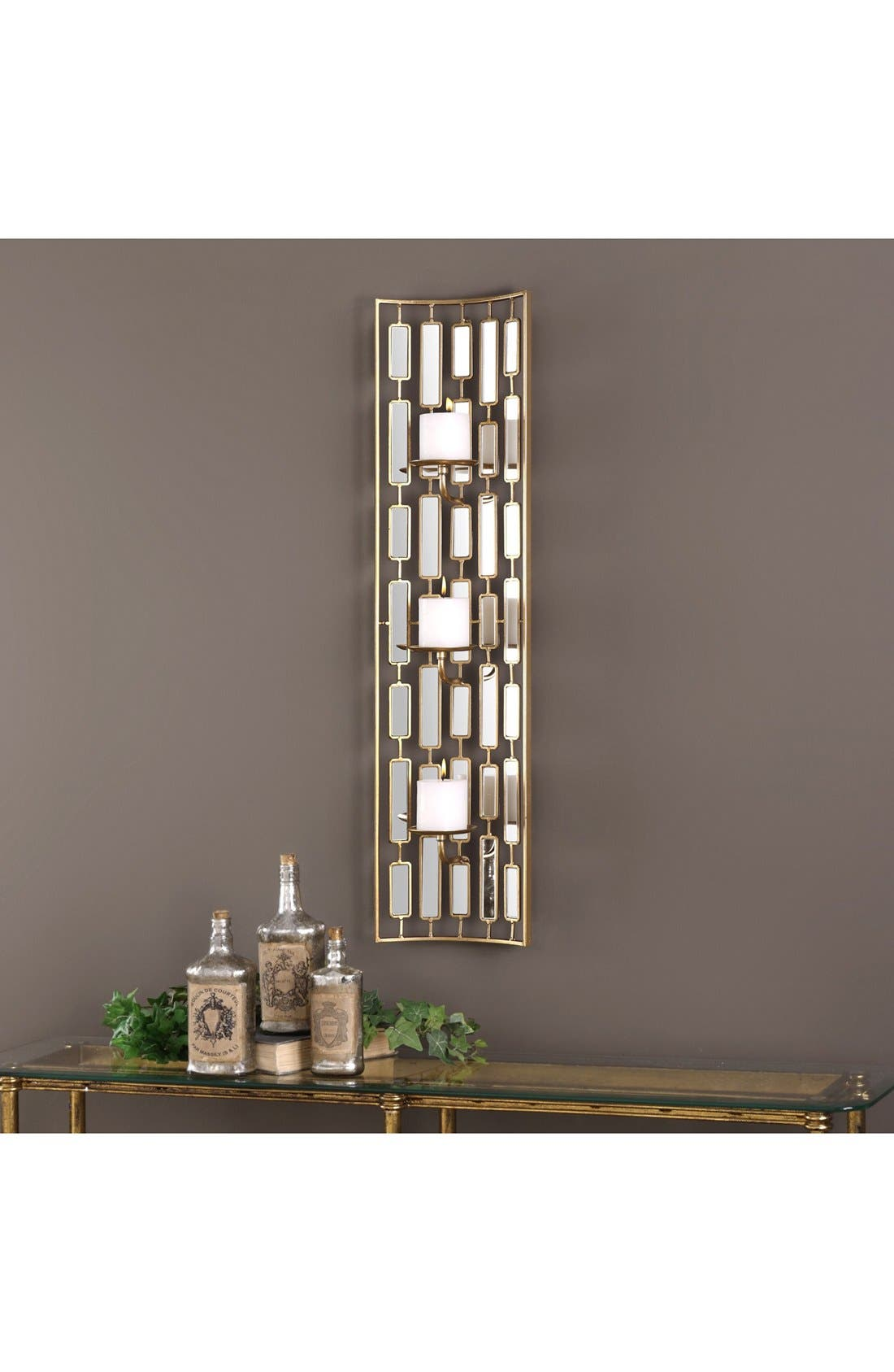 Mirrored Candleholder Wall Sconce,                             Alternate thumbnail 2, color,                             710