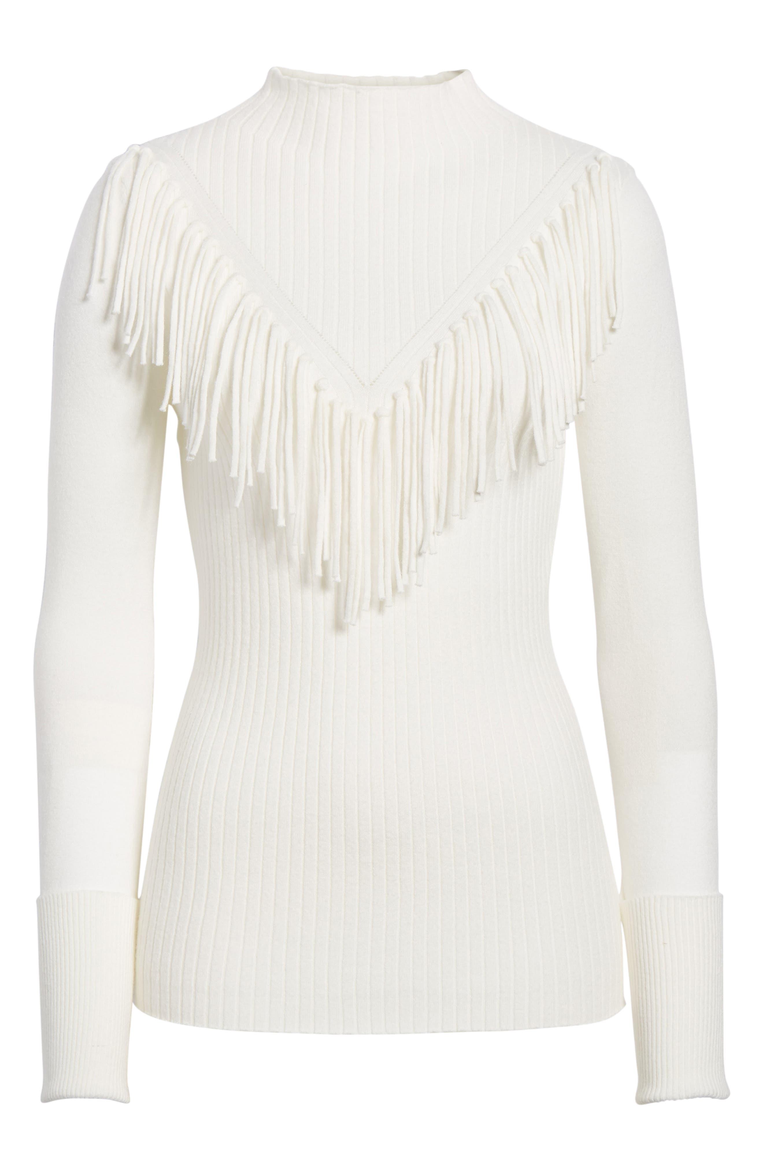 Fringe Sweater,                             Alternate thumbnail 6, color,                             900