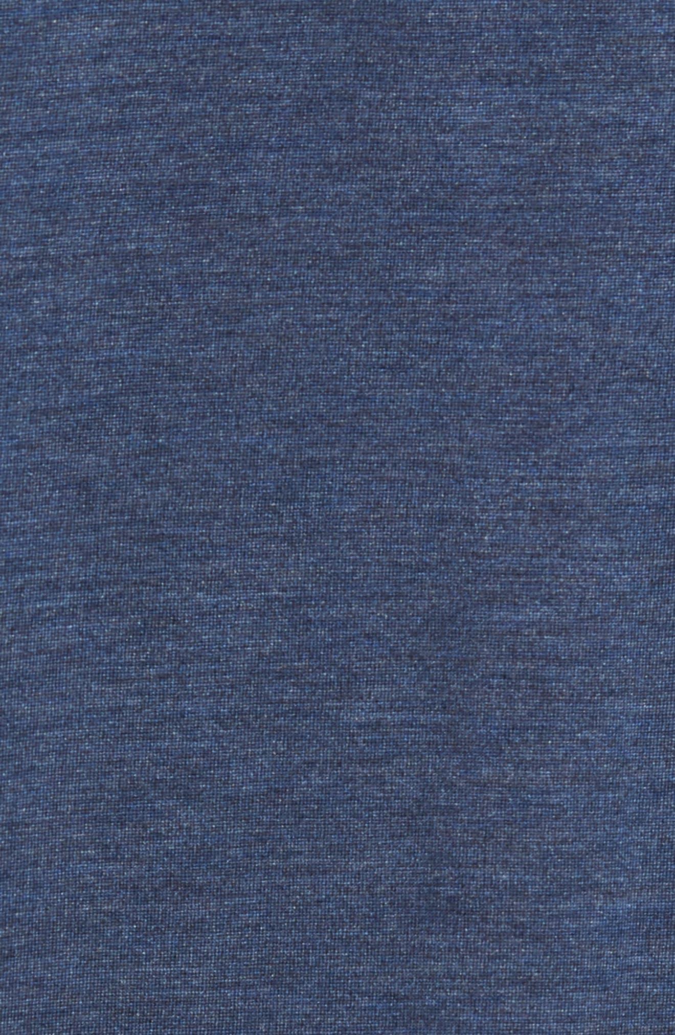Silk & Cotton Crewneck T-Shirt,                             Alternate thumbnail 5, color,                             NAVY HEATHER