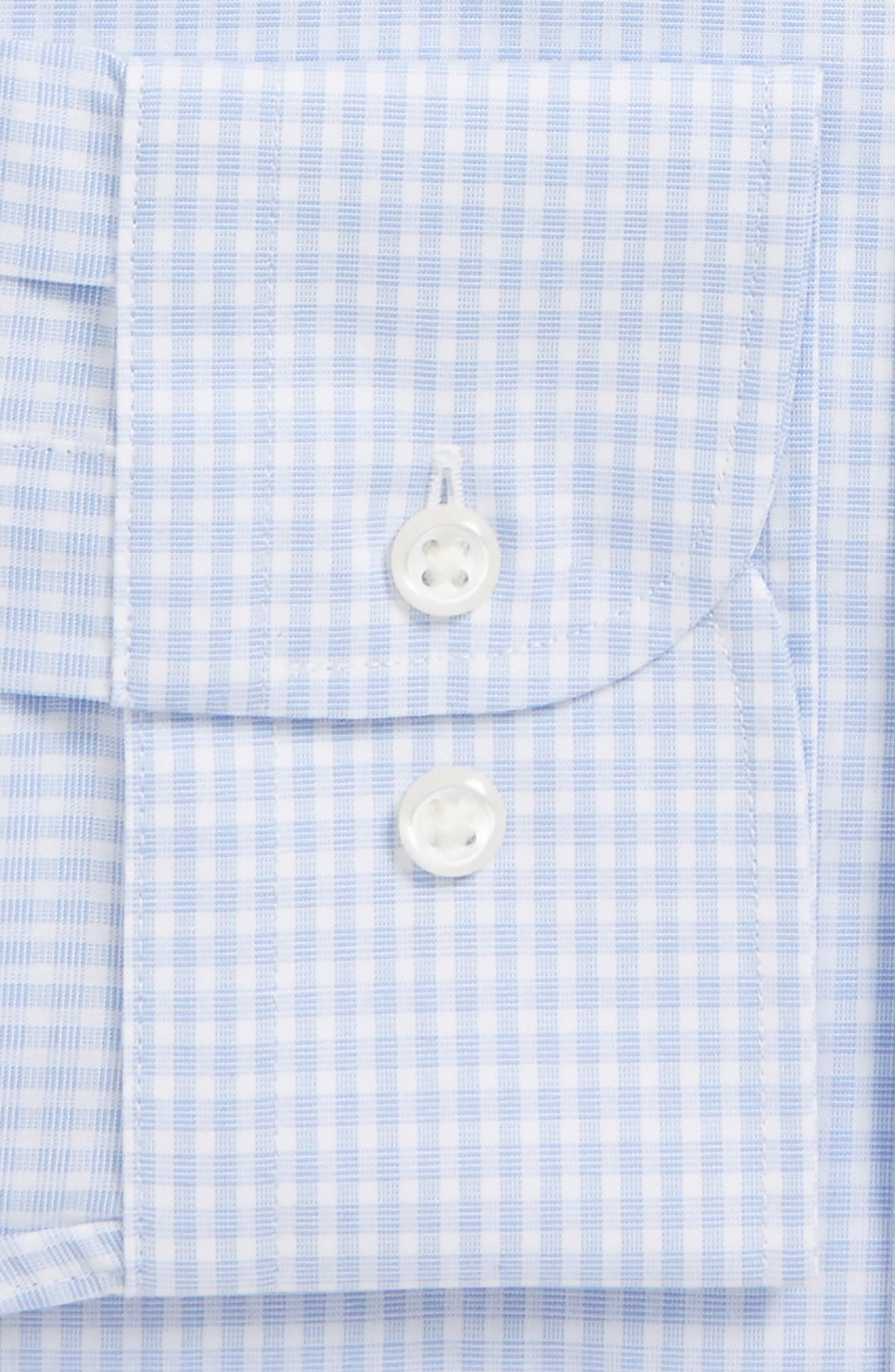 Traditional Fit Non-Iron Check Dress Shirt,                             Alternate thumbnail 6, color,                             BLUE XENON