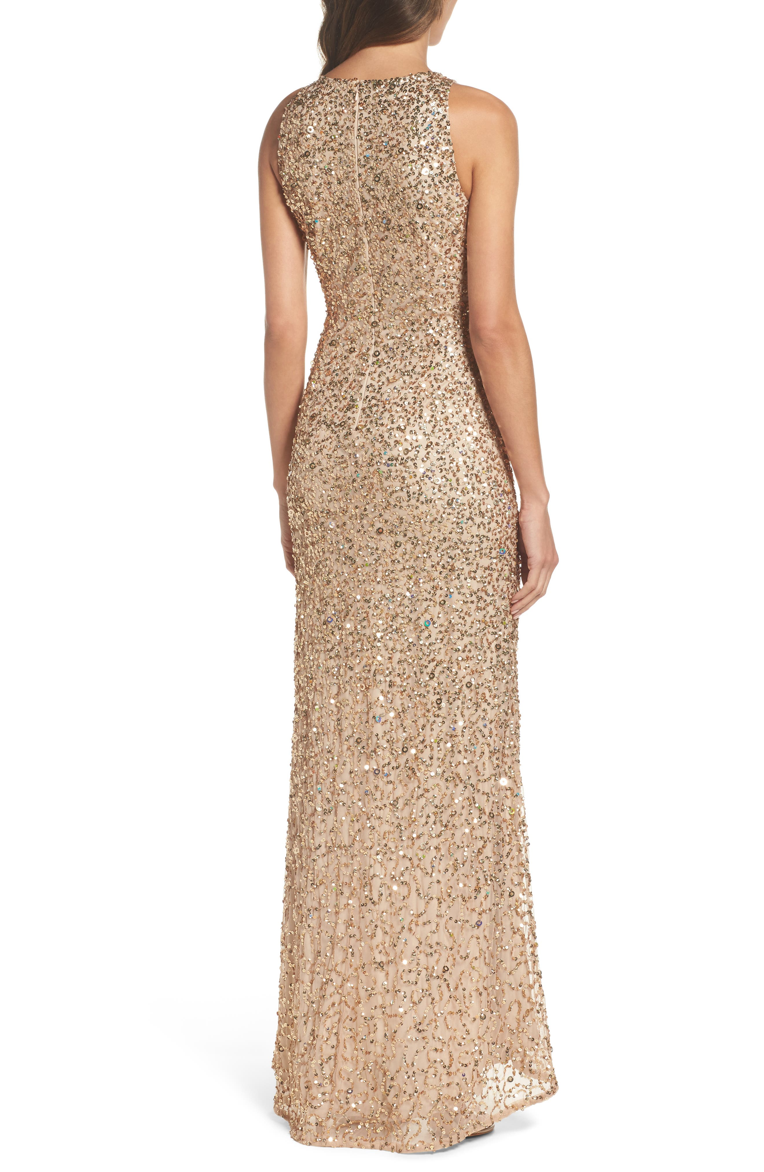 Sequin High/Low Gown,                             Alternate thumbnail 7, color,