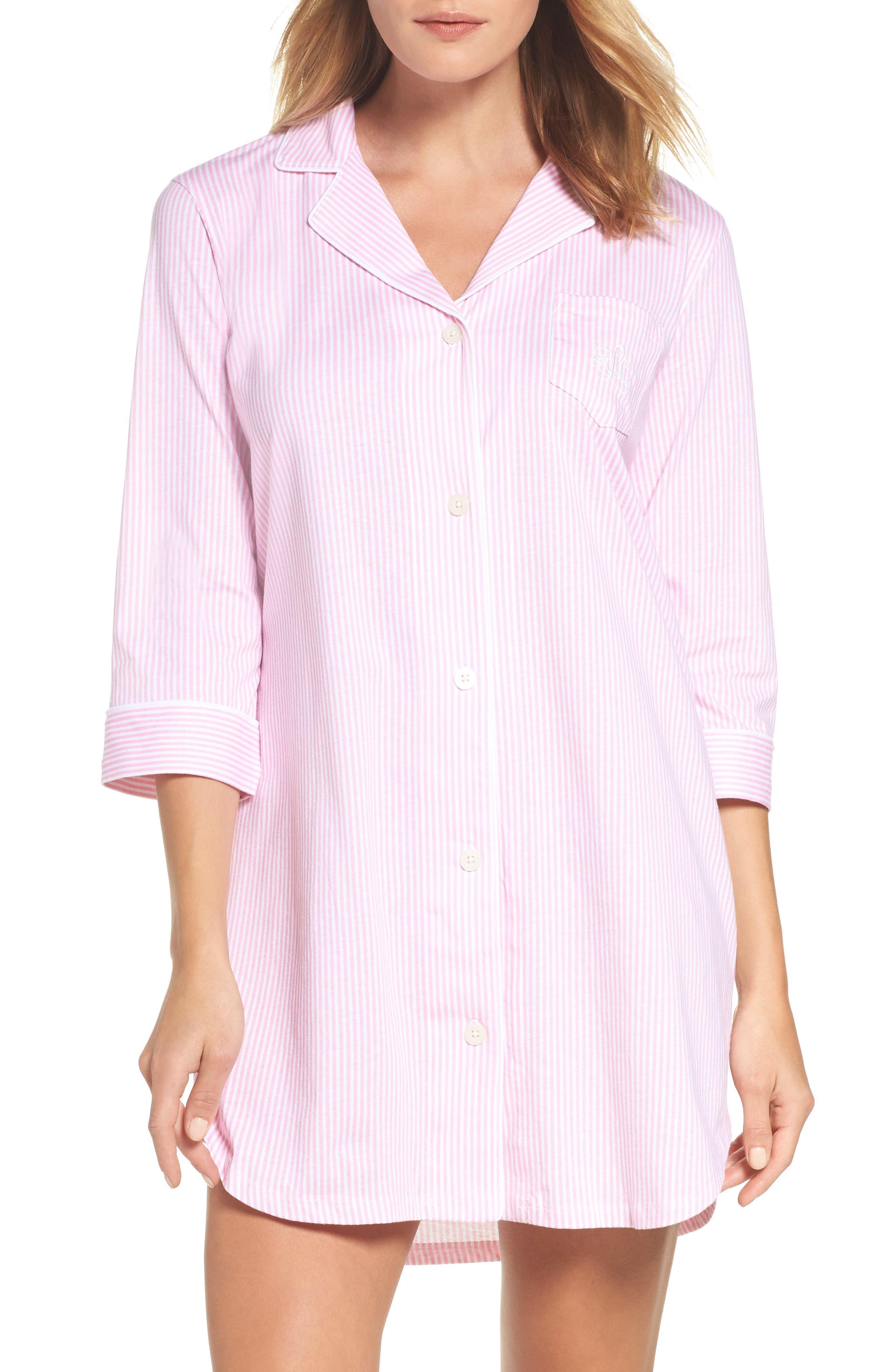 Jersey Sleep Shirt,                             Alternate thumbnail 12, color,