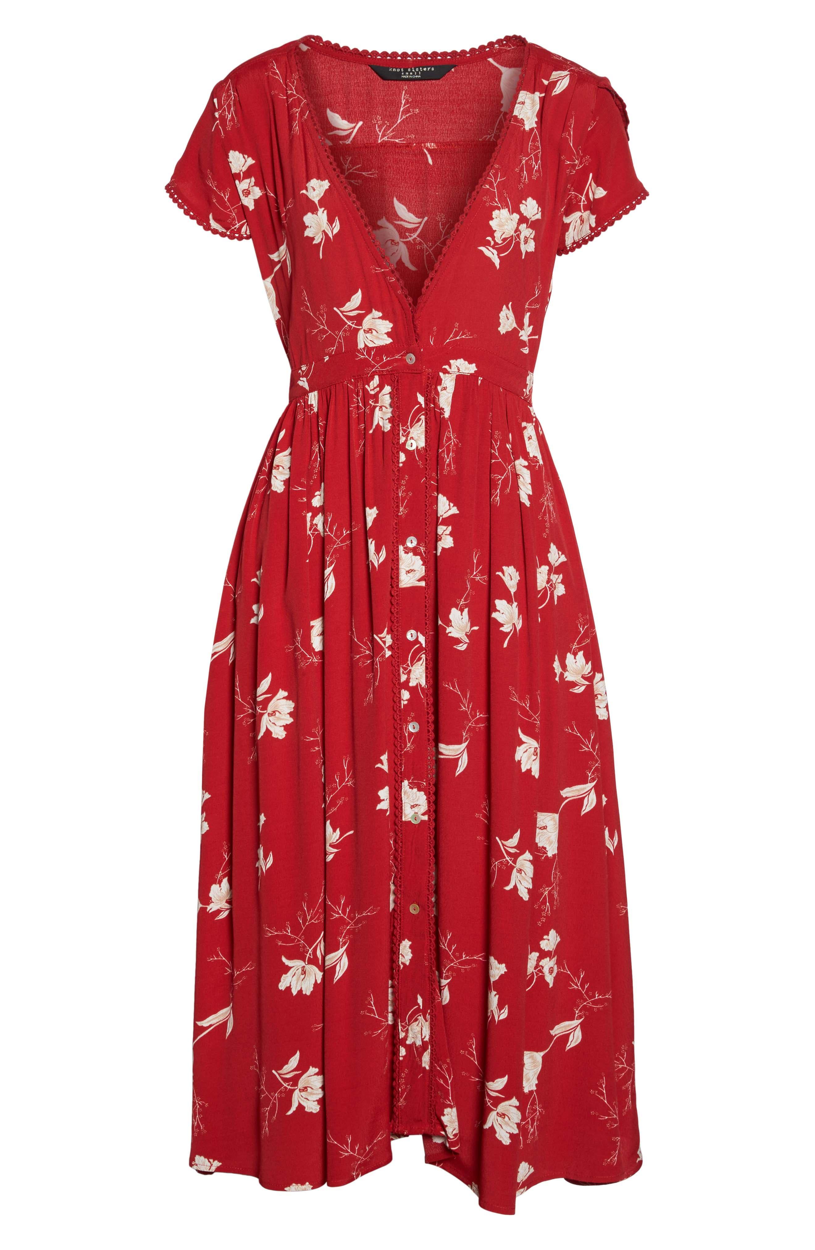 Domingo Midi Dress,                             Alternate thumbnail 6, color,                             617