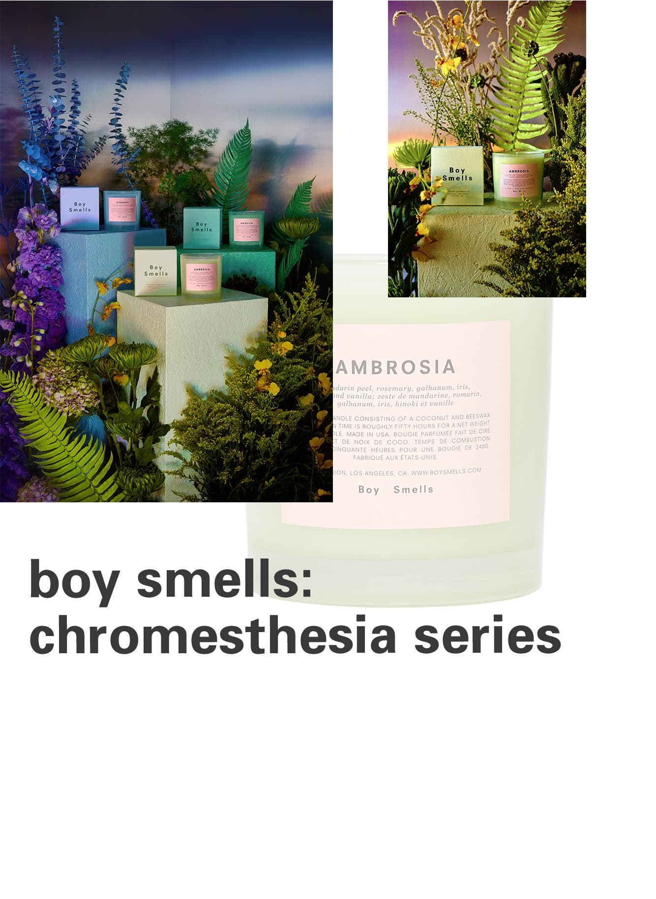Boy Smells chromesthesia candles.