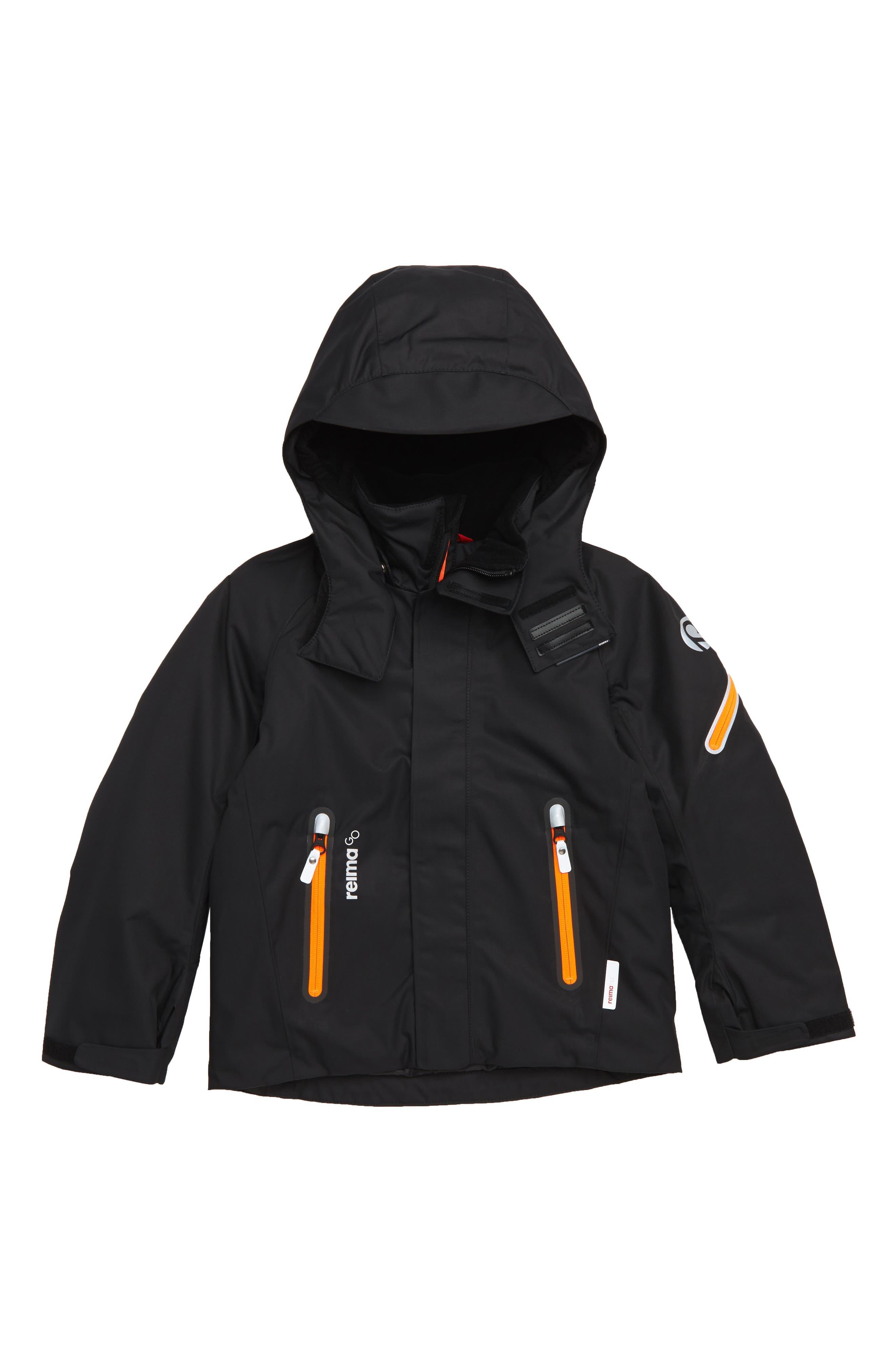Regor Reimatec<sup>®</sup> Waterproof & Windproof Hooded Jacket,                         Main,                         color, BLACK