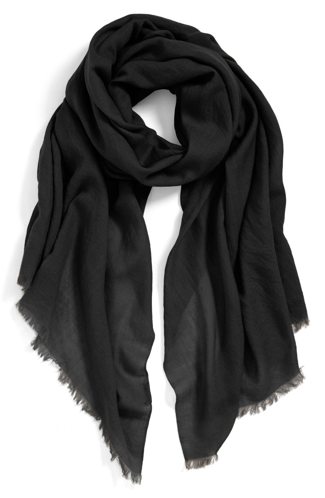 Solid Wool Wrap, Main, color, 001