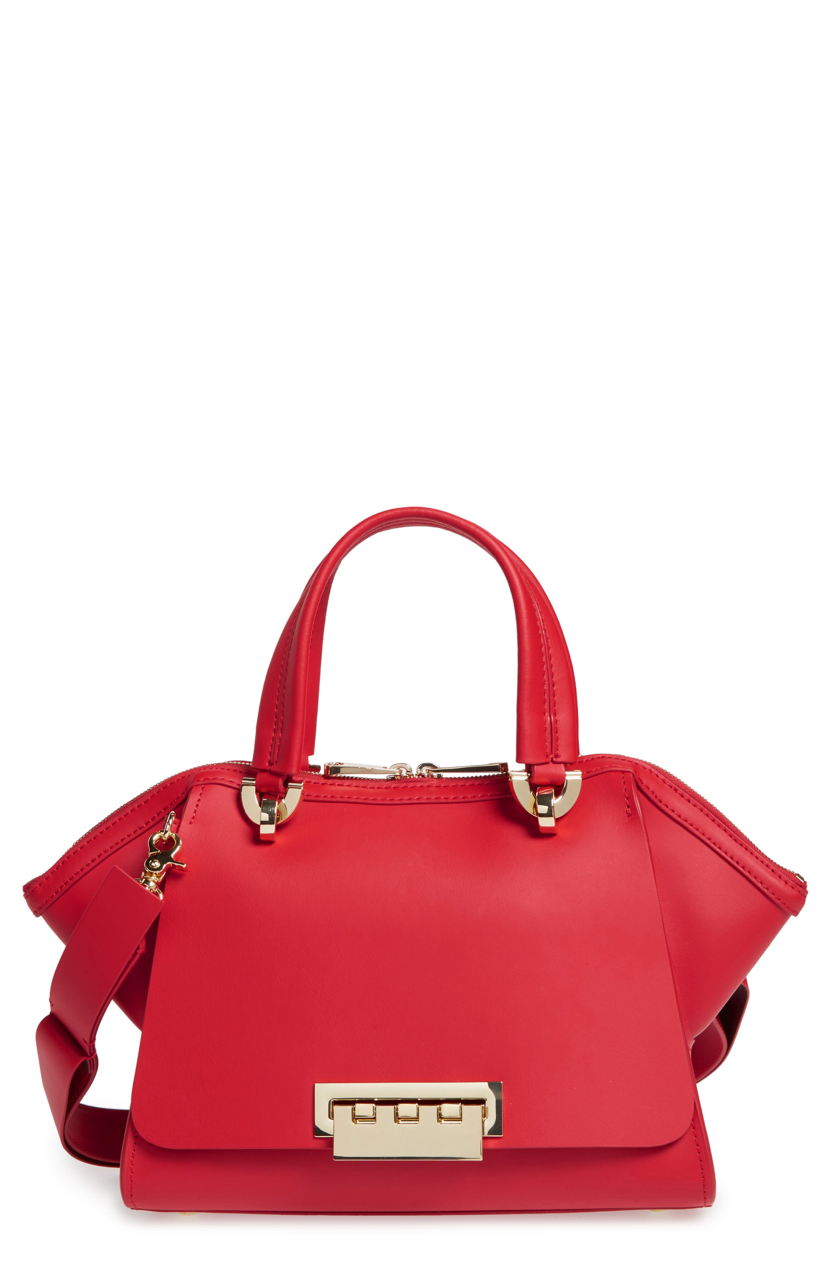 Eartha Iconic Calfskin Leather Double Handle Satchel,                         Main,                         color,