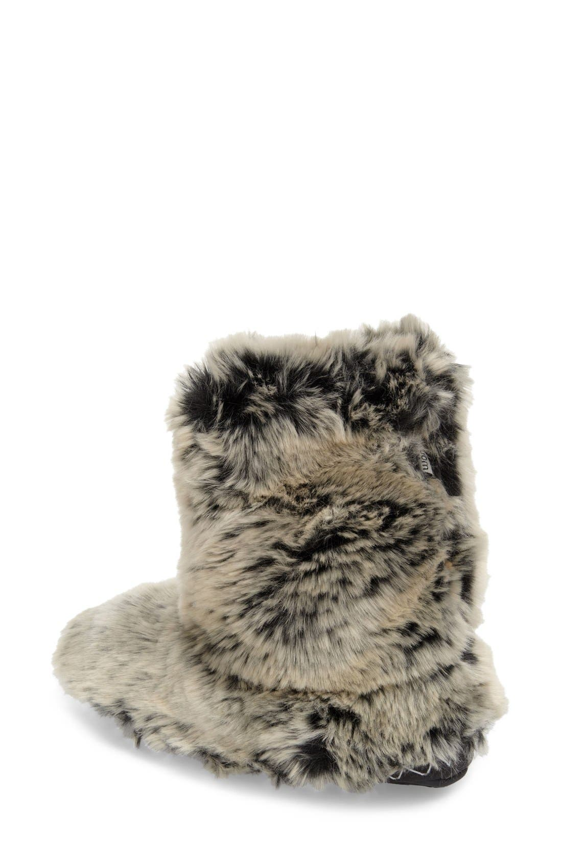 'Cole' Faux Fur Slipper Boot,                             Alternate thumbnail 3, color,                             005