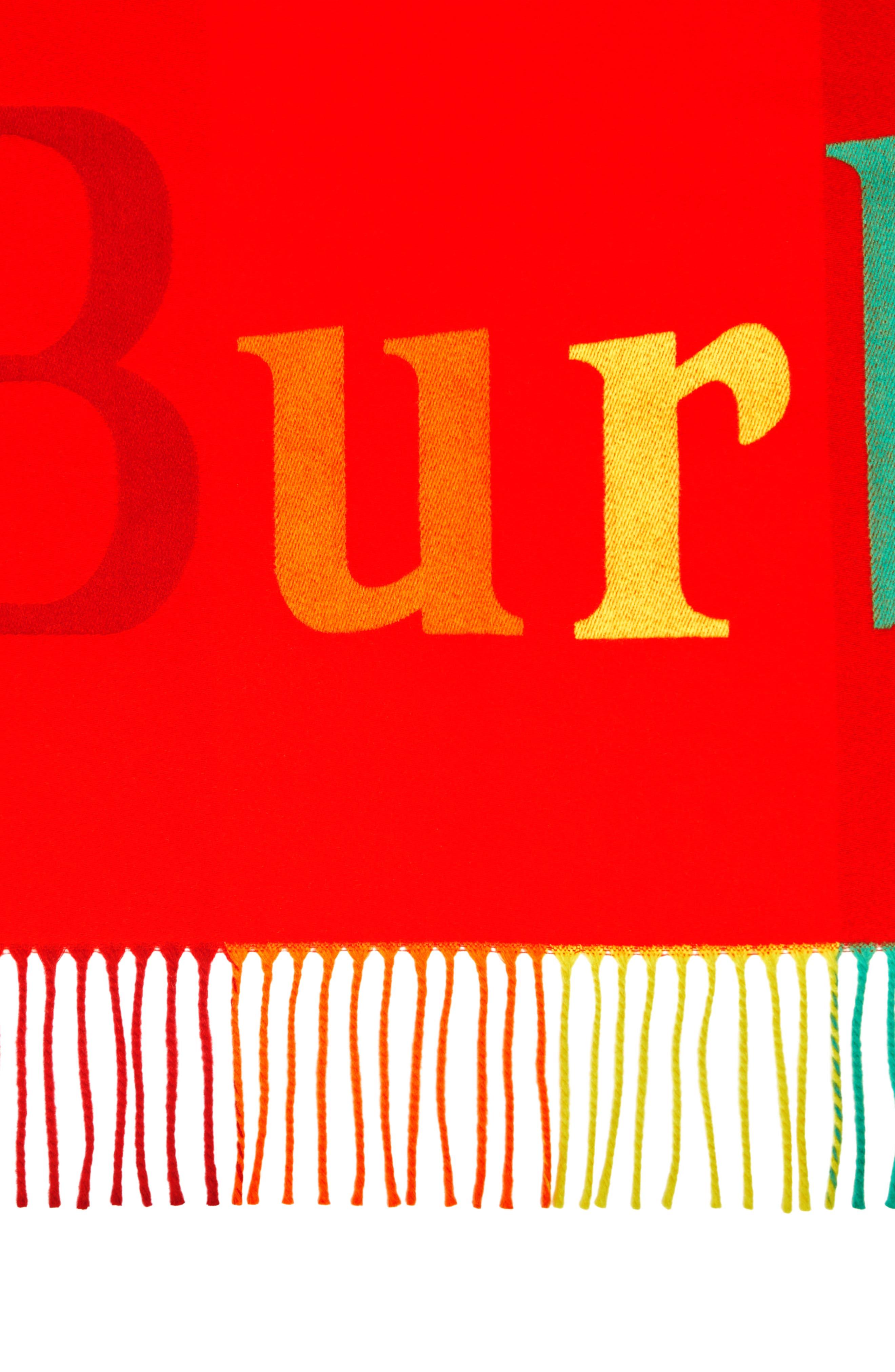 Color Fringe Bandana,                             Alternate thumbnail 4, color,                             BRIGHT RED