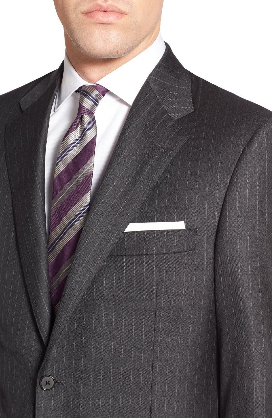 'Addison - A Series' Classic Fit Stripe Wool Suit,                             Alternate thumbnail 5, color,                             031