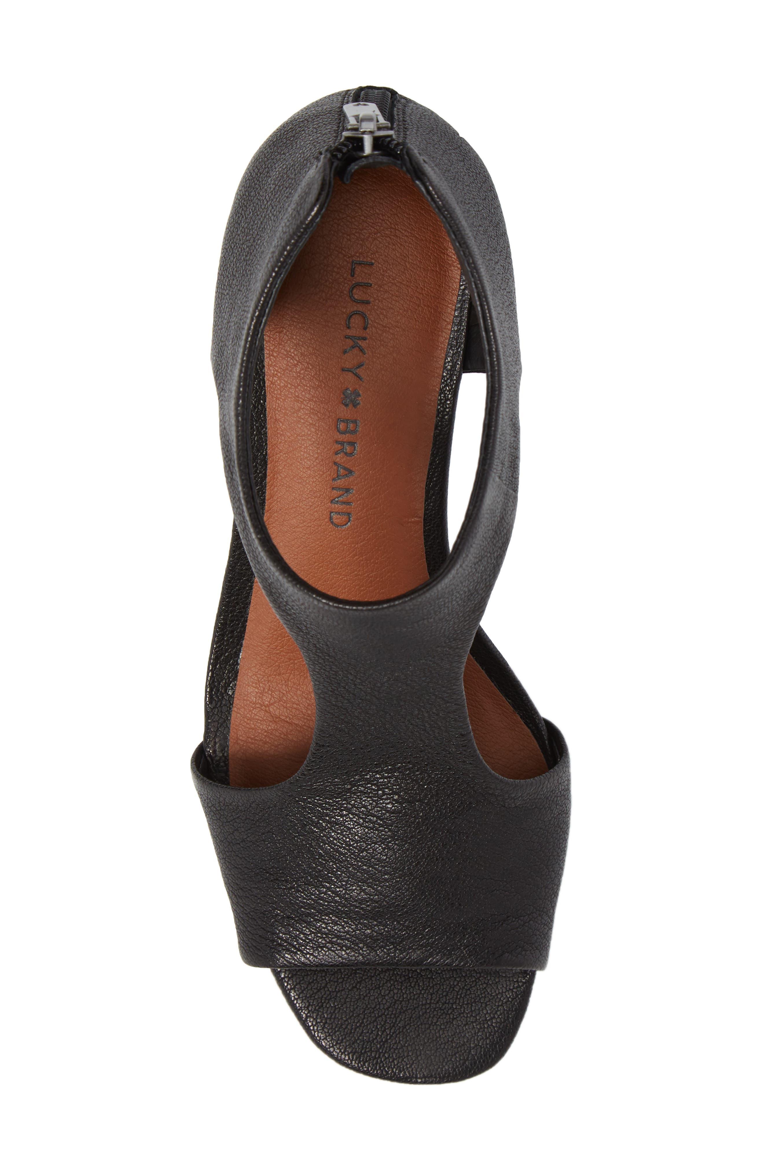 Tehirr Wedge Sandal,                             Alternate thumbnail 5, color,                             001