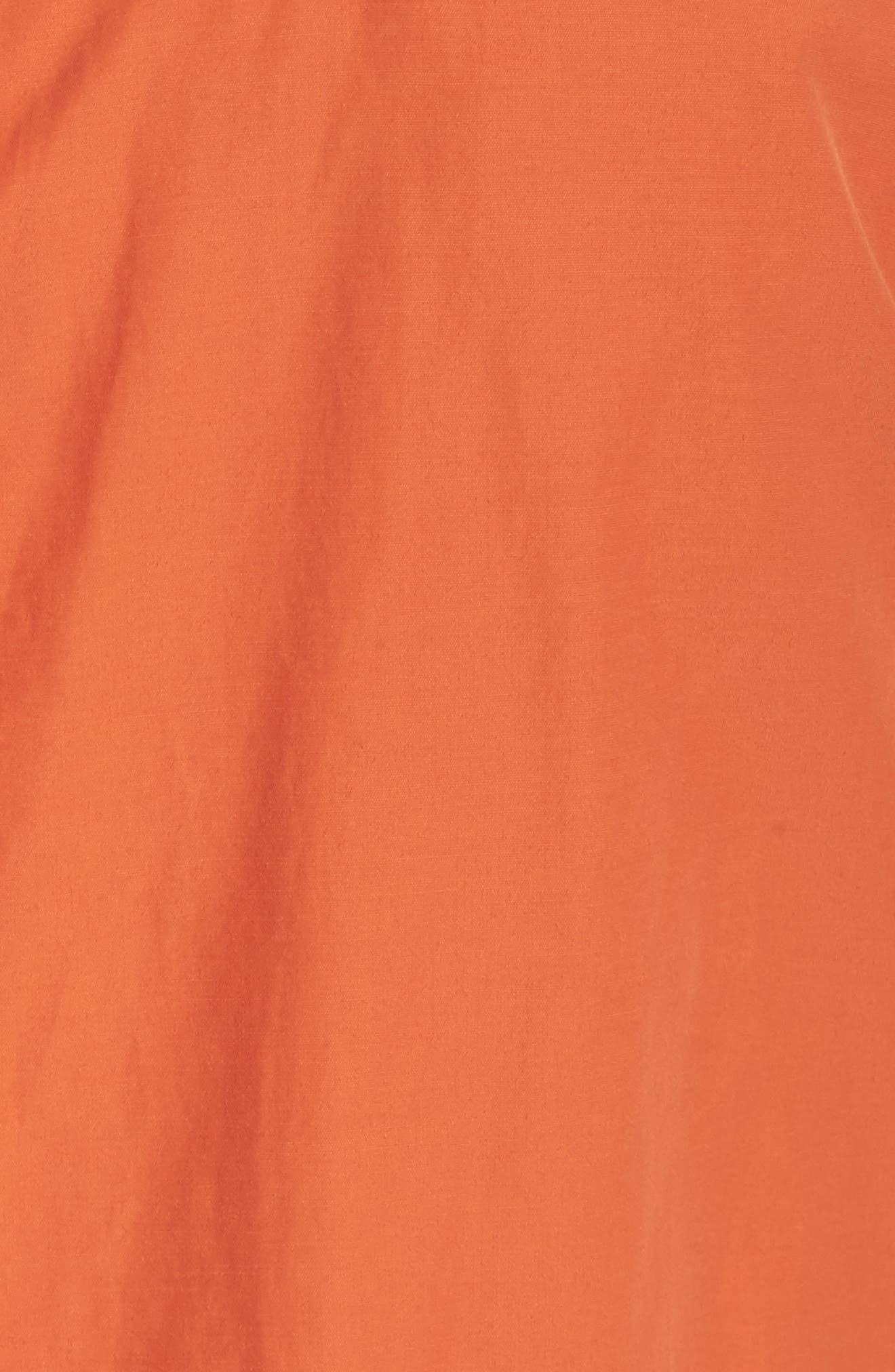 Hooded Organic Cotton Blend Jacket,                             Alternate thumbnail 6, color,                             001