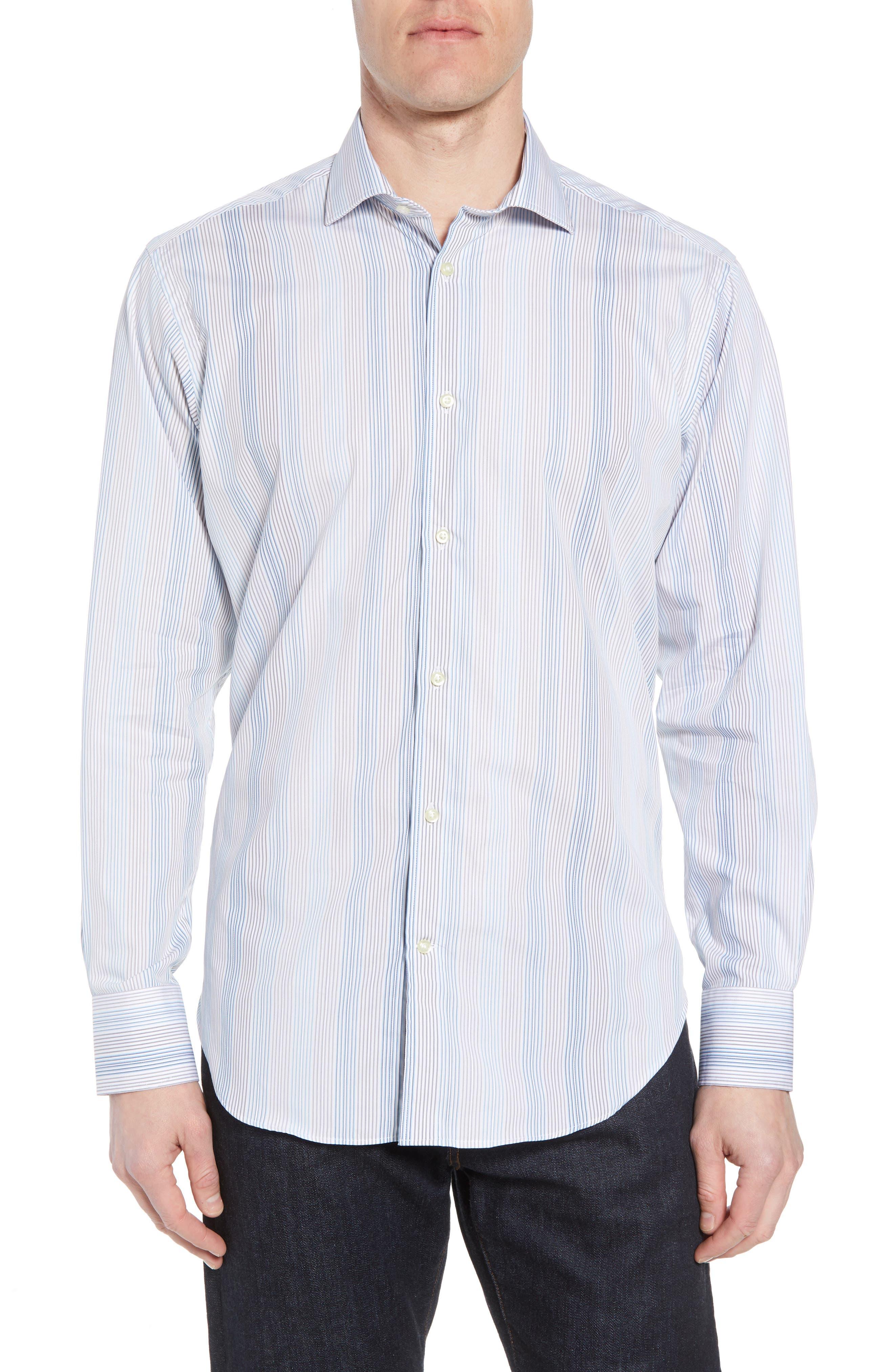 Regular Fit Stripe Sport Shirt,                         Main,                         color,