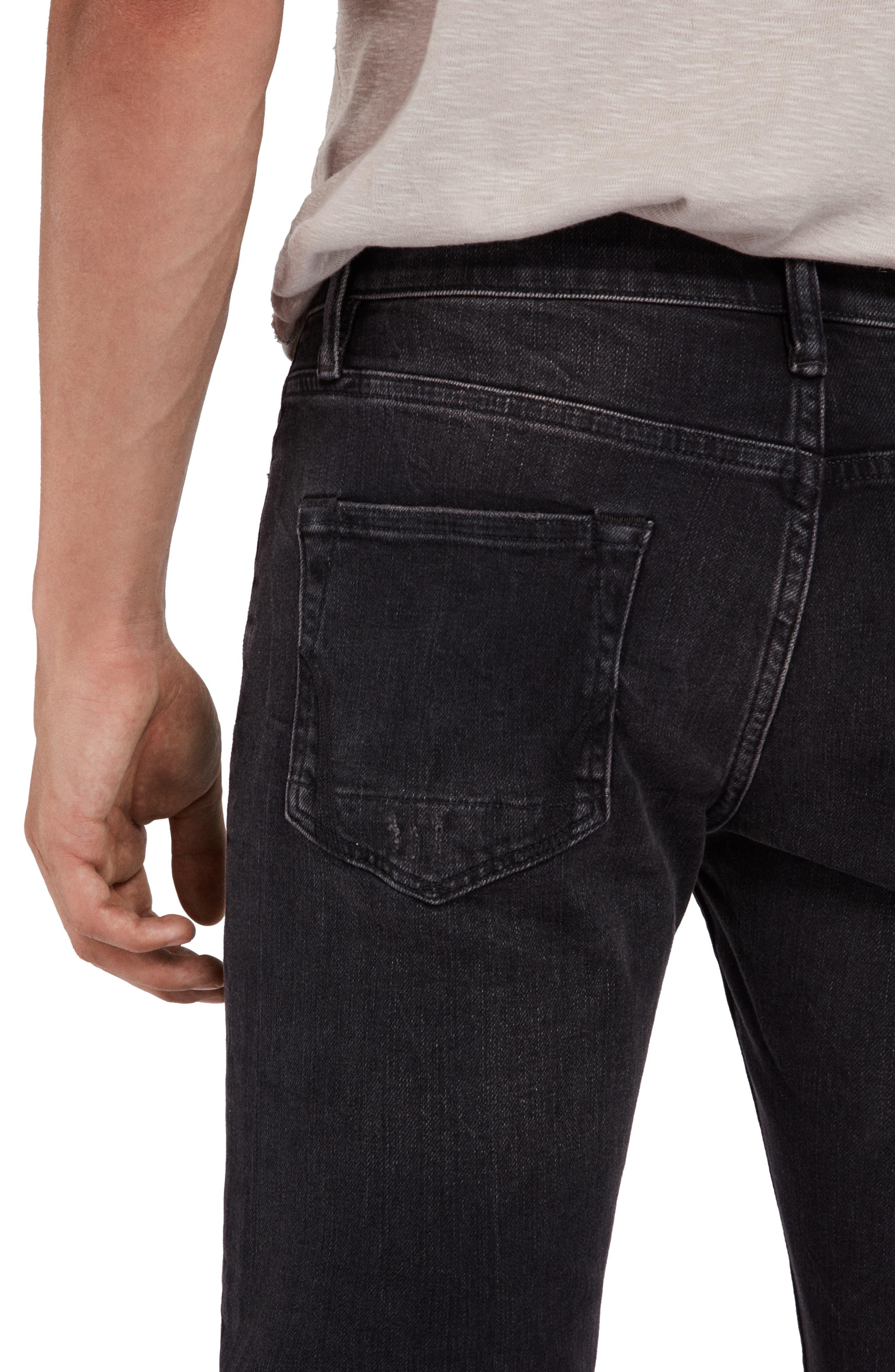 Rex Slim Fit Straight Leg Jeans,                             Alternate thumbnail 7, color,                             005