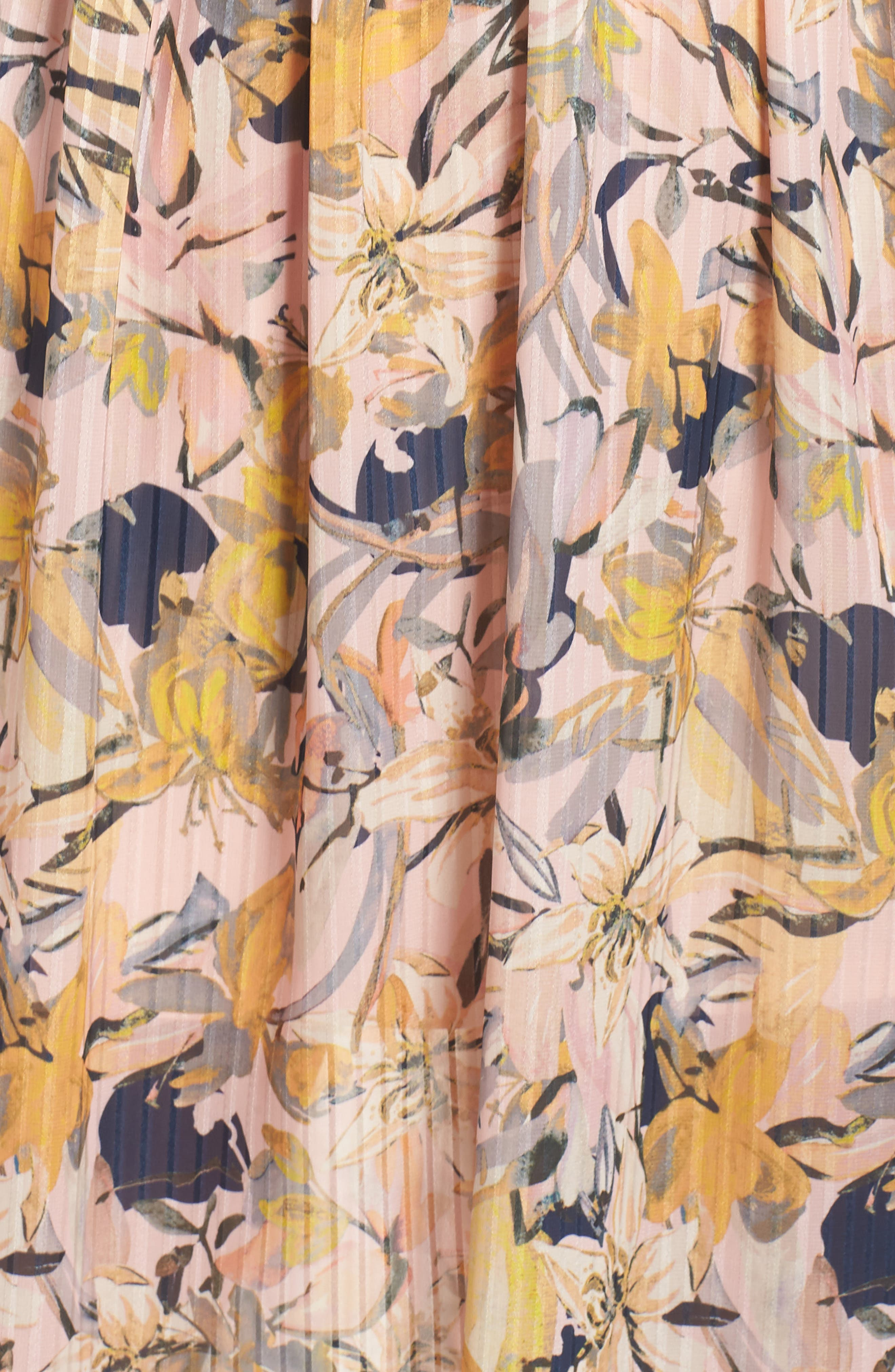 Marie Floral Bustier Midi Dress,                             Alternate thumbnail 6, color,                             650