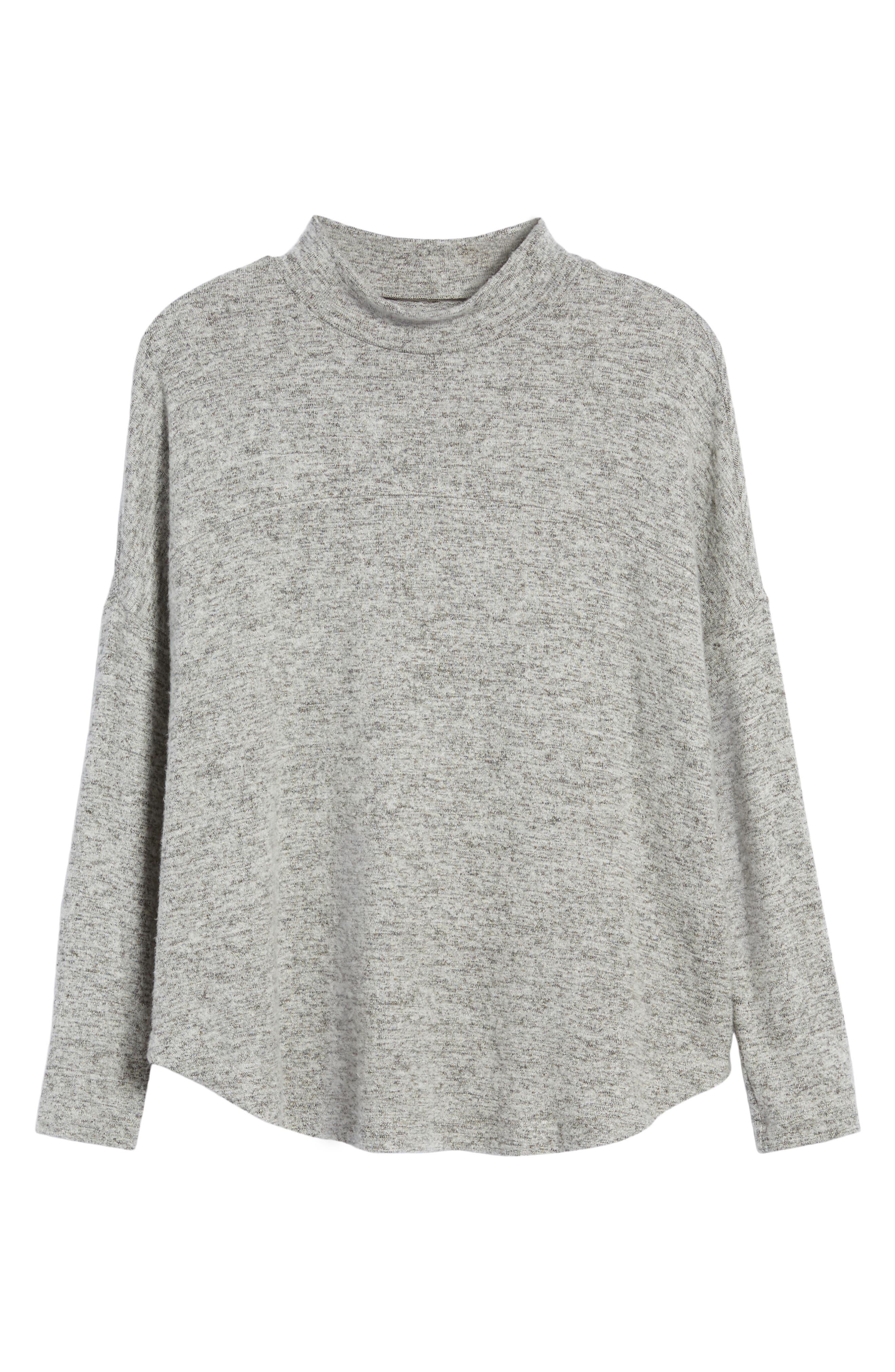Mock Neck Sweater,                             Alternate thumbnail 6, color,                             020