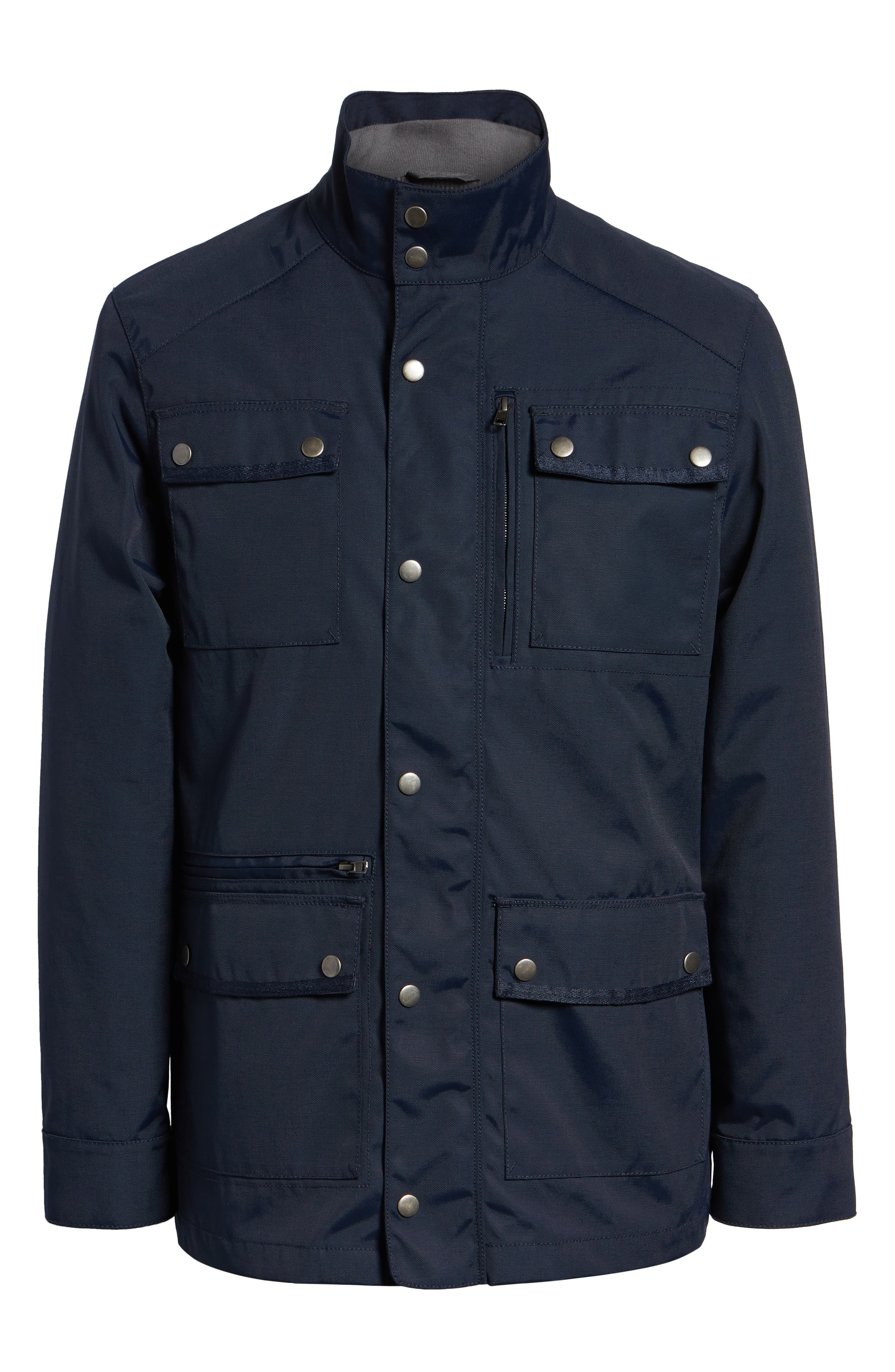 'Ethan' 3-in-1 Field Jacket,                             Alternate thumbnail 6, color,                             NAVY