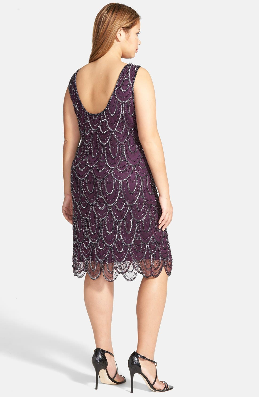 Beaded Sheath Dress,                             Alternate thumbnail 68, color,