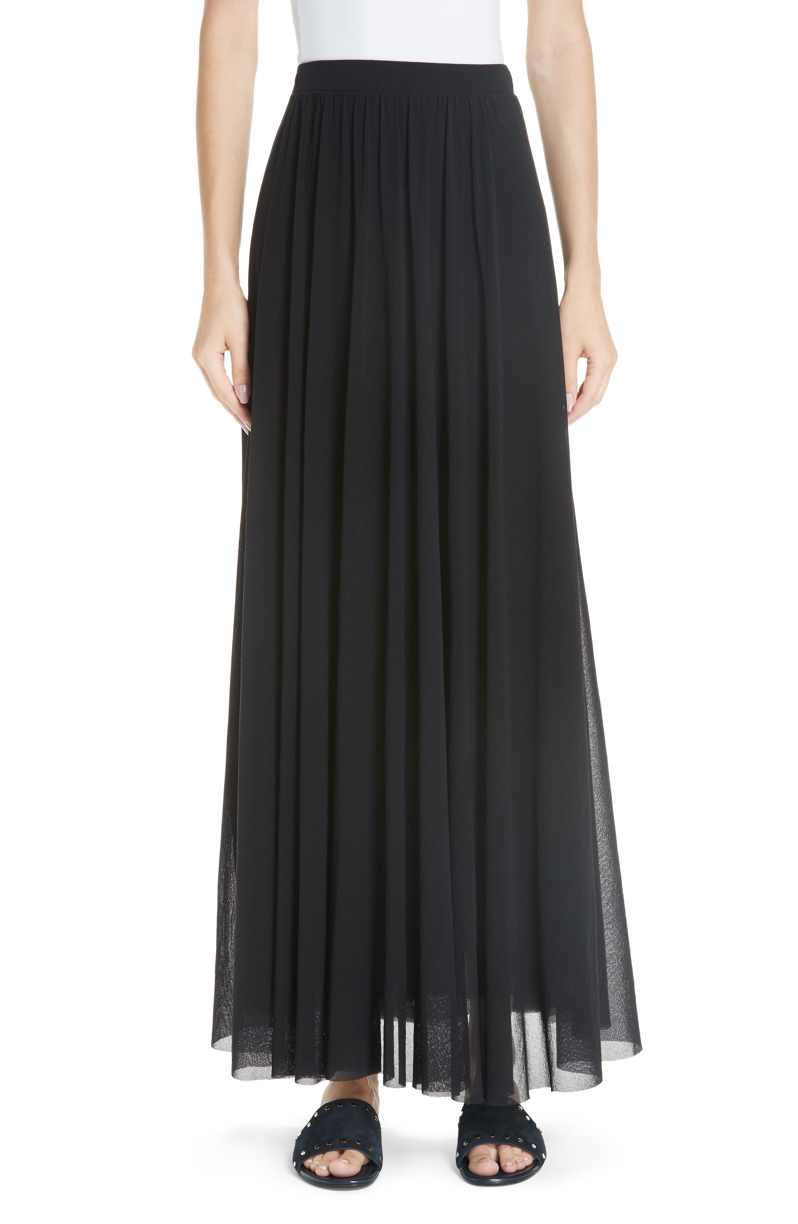 Fuzzi Tulle Maxi Skirt, Black