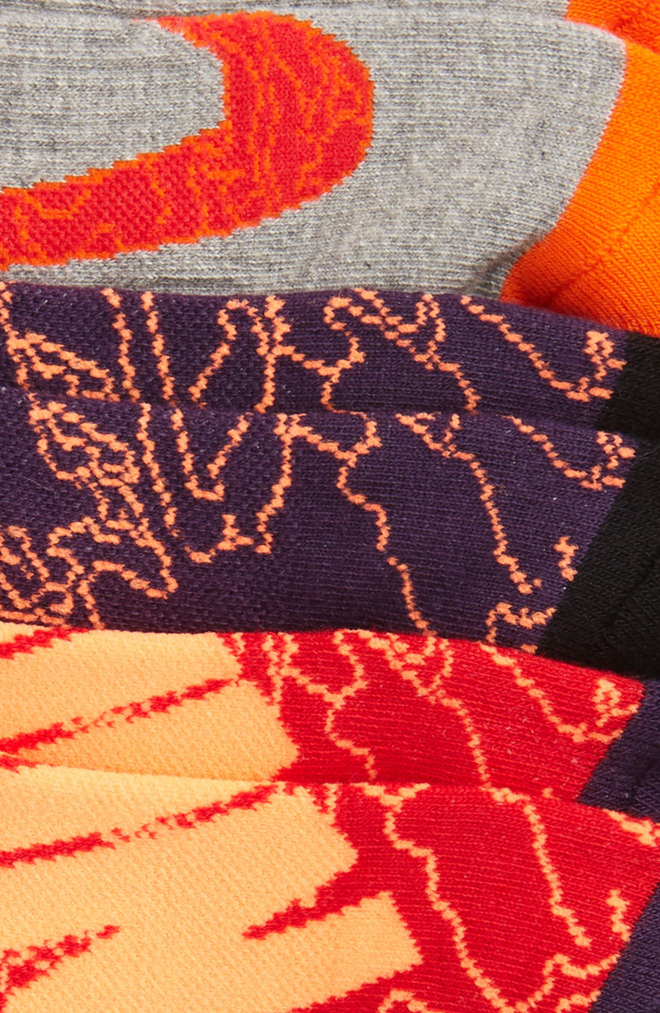 Performance 3-Pack No-Show Socks,                             Alternate thumbnail 7, color,