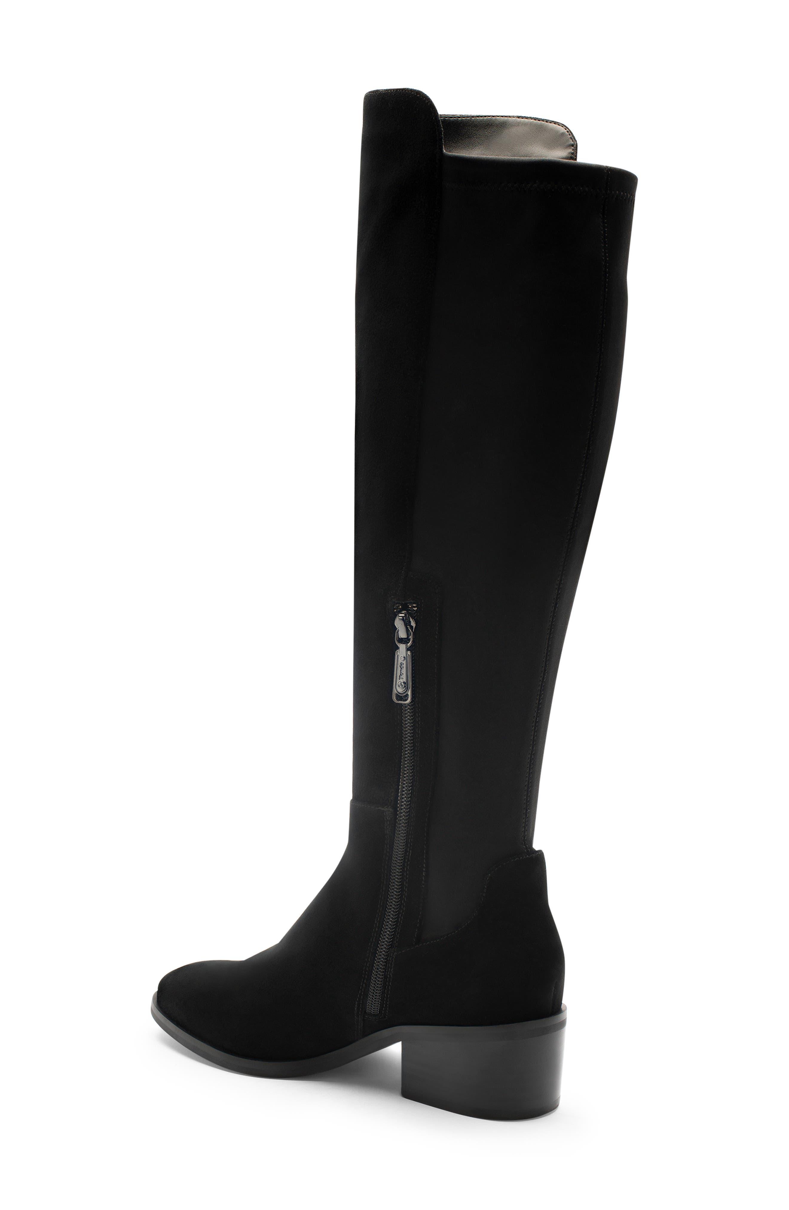 Gallo Knee-High Waterproof Boot,                             Alternate thumbnail 2, color,                             BLACK SUEDE