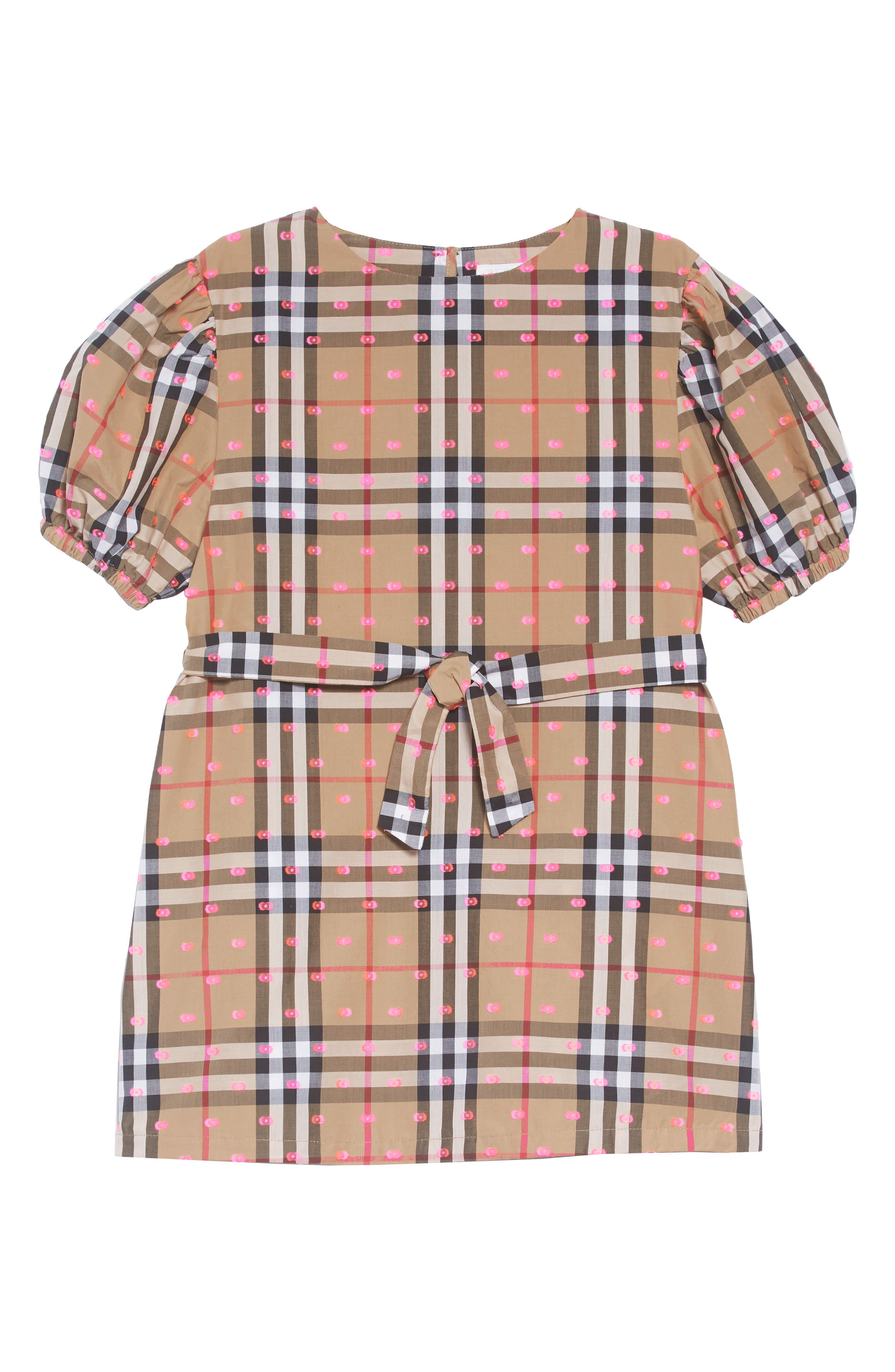 Thelma Vintage Check Dress,                         Main,                         color, ANTIQUE YELLOW