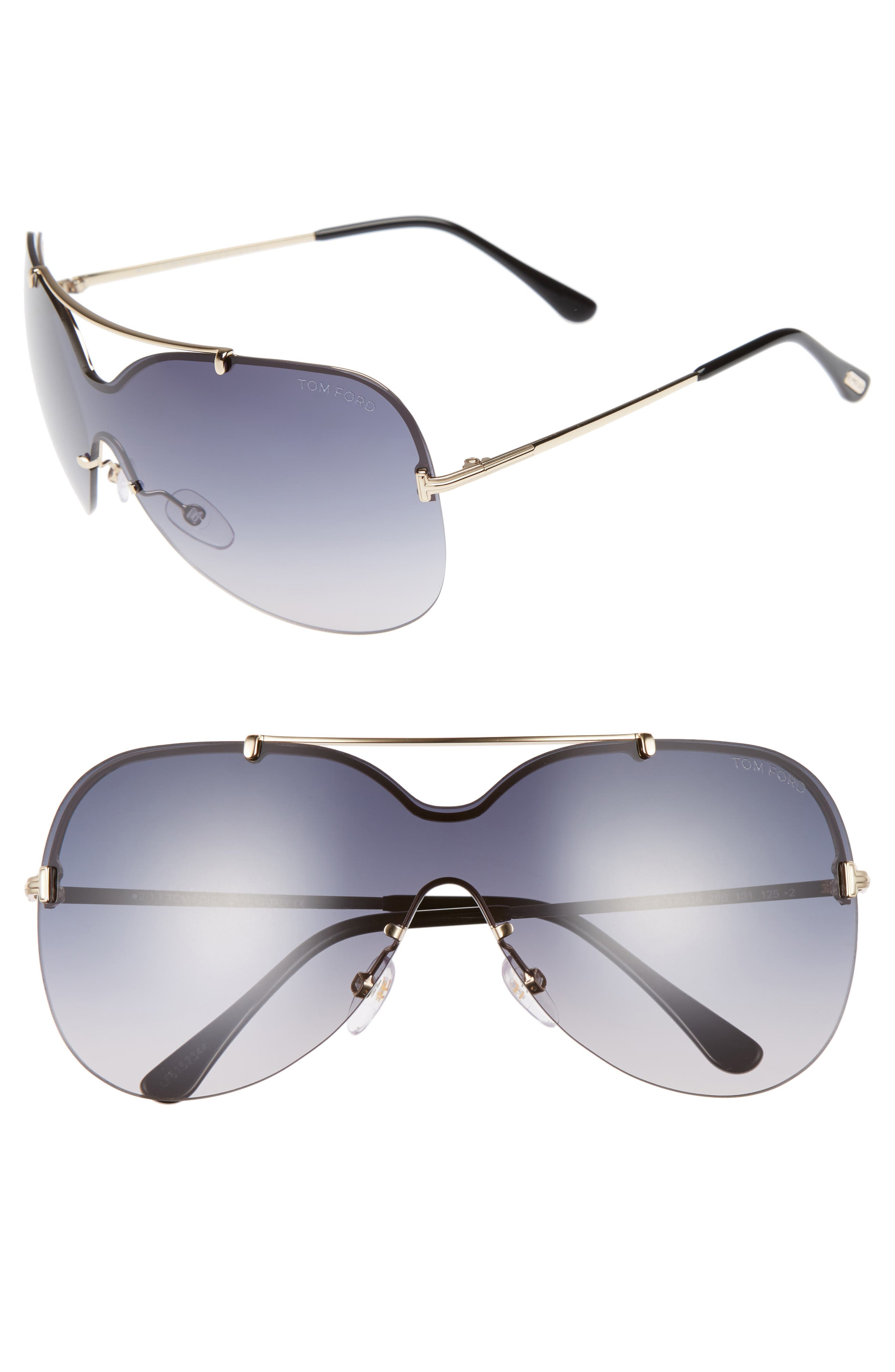 Ondria Gradient Lens Shield Sunglasses,                         Main,                         color, 710