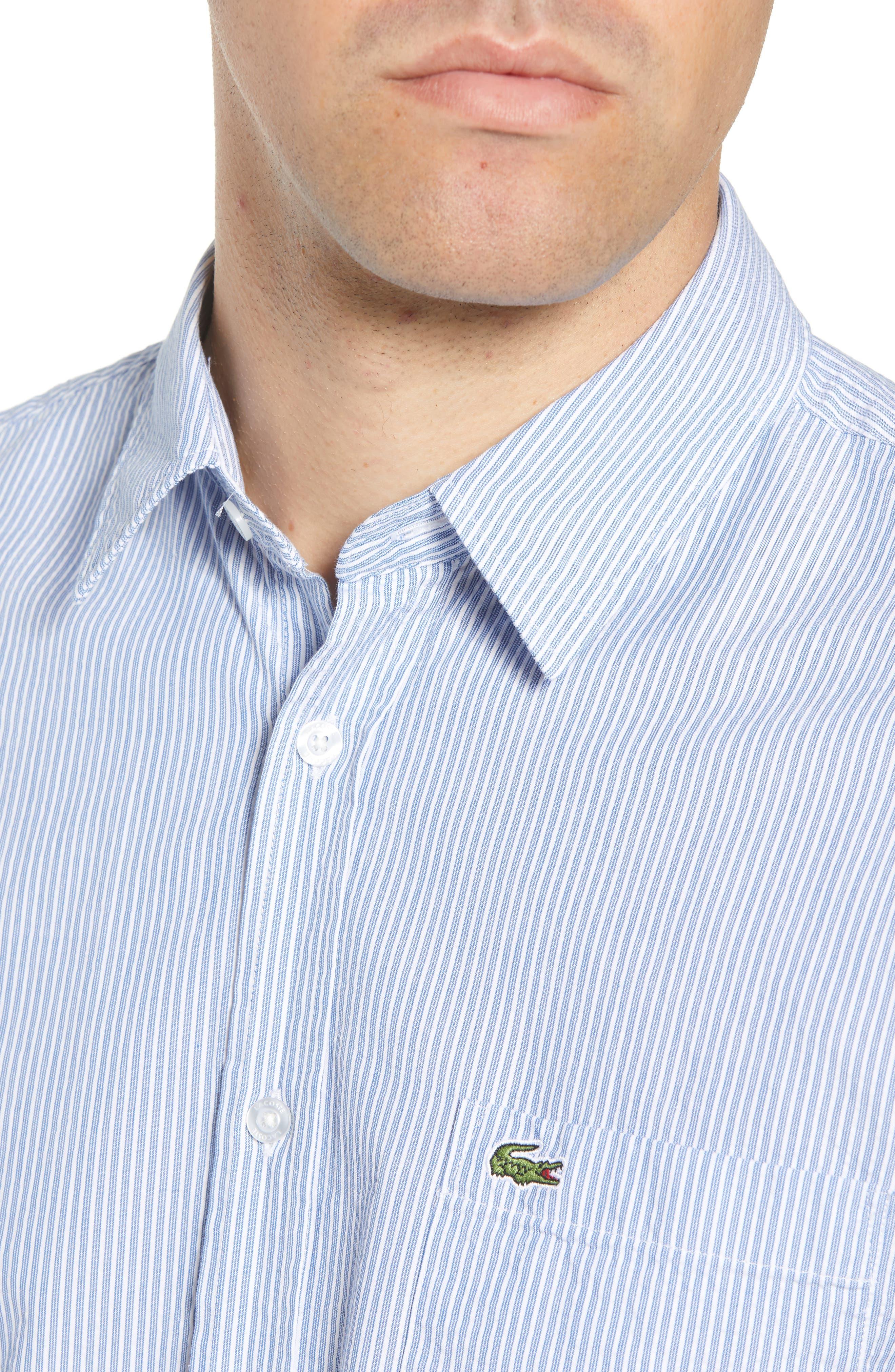 Regular Fit Seersucker Sport Shirt,                             Alternate thumbnail 4, color,                             400