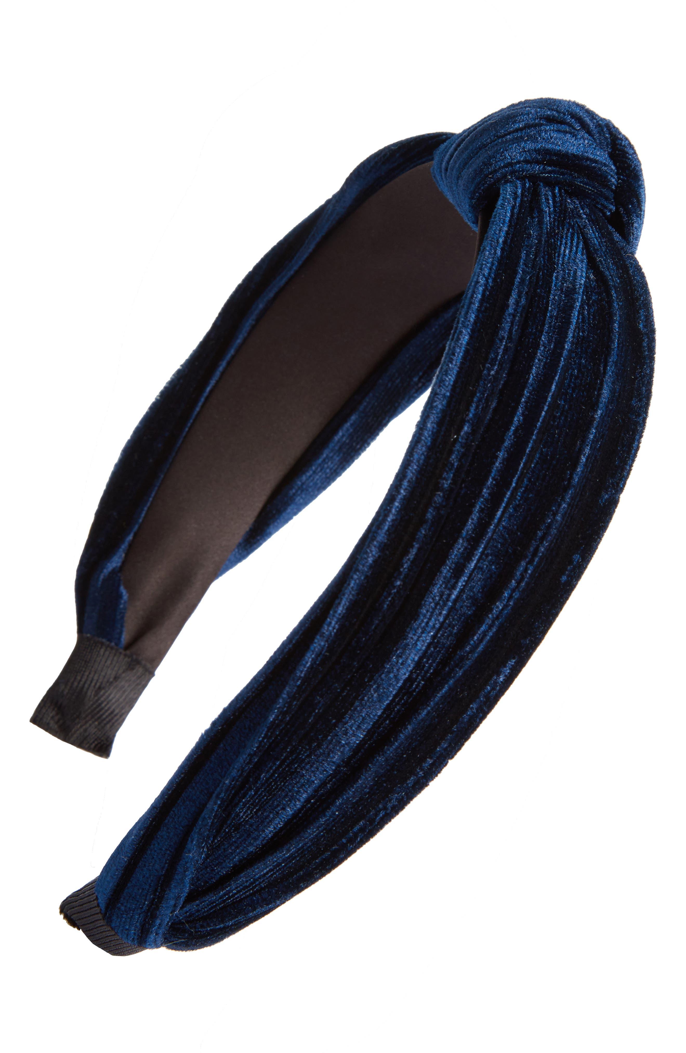 Velvet Knot Headband,                             Main thumbnail 3, color,