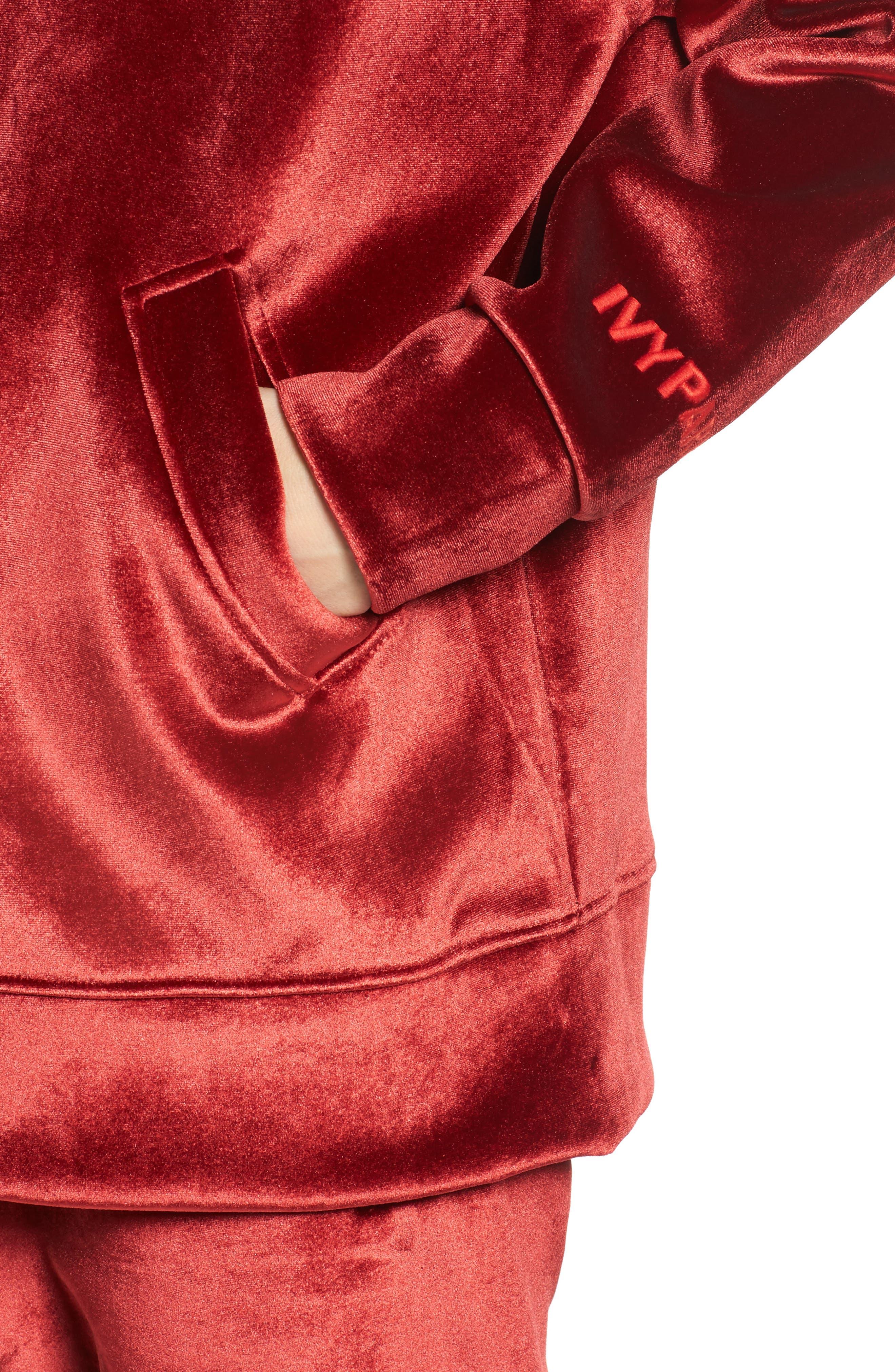 Velvet Zip Hoodie,                             Alternate thumbnail 4, color,                             600