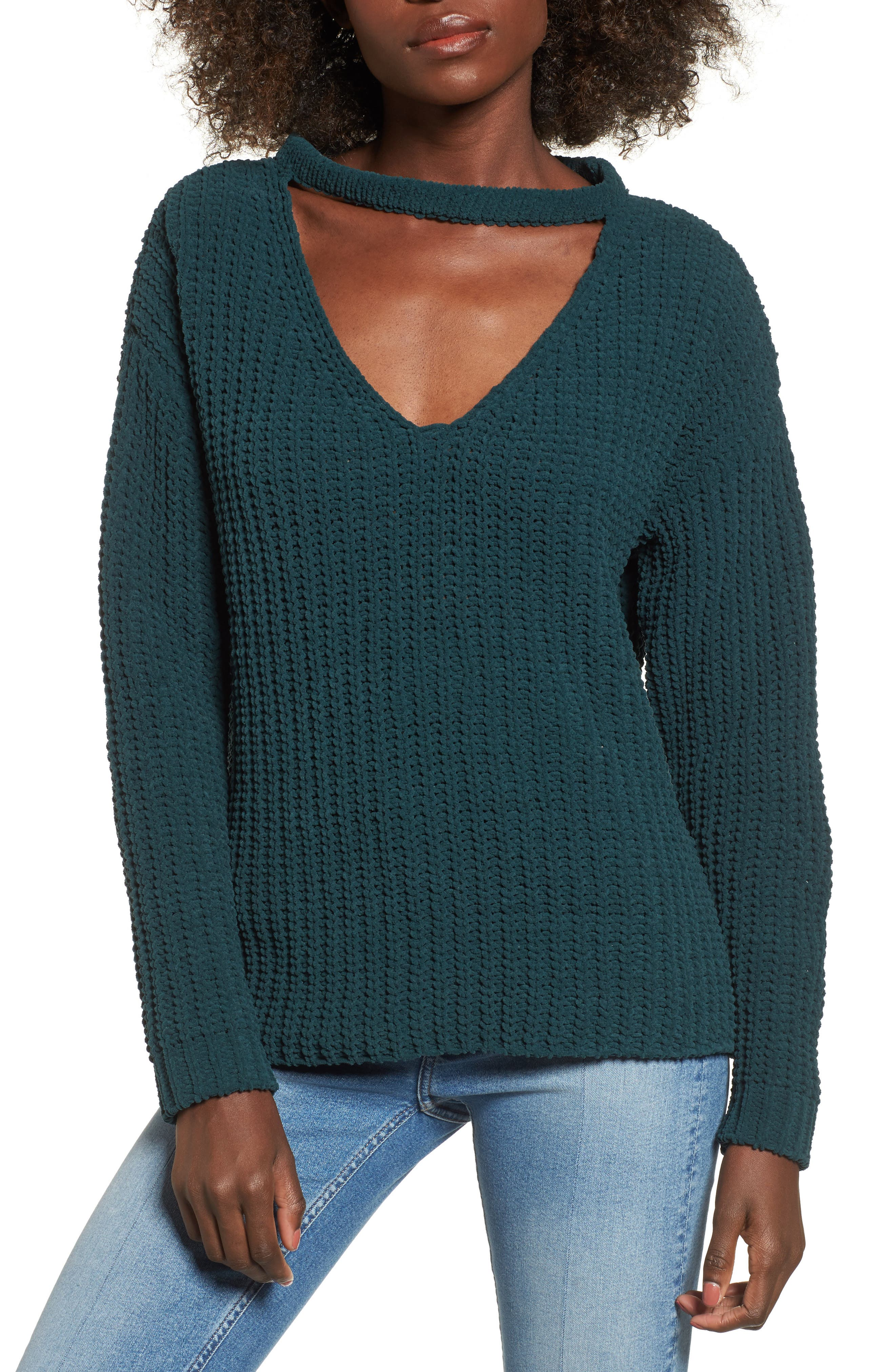 Mary Lous Choker Sweater,                             Main thumbnail 1, color,                             300