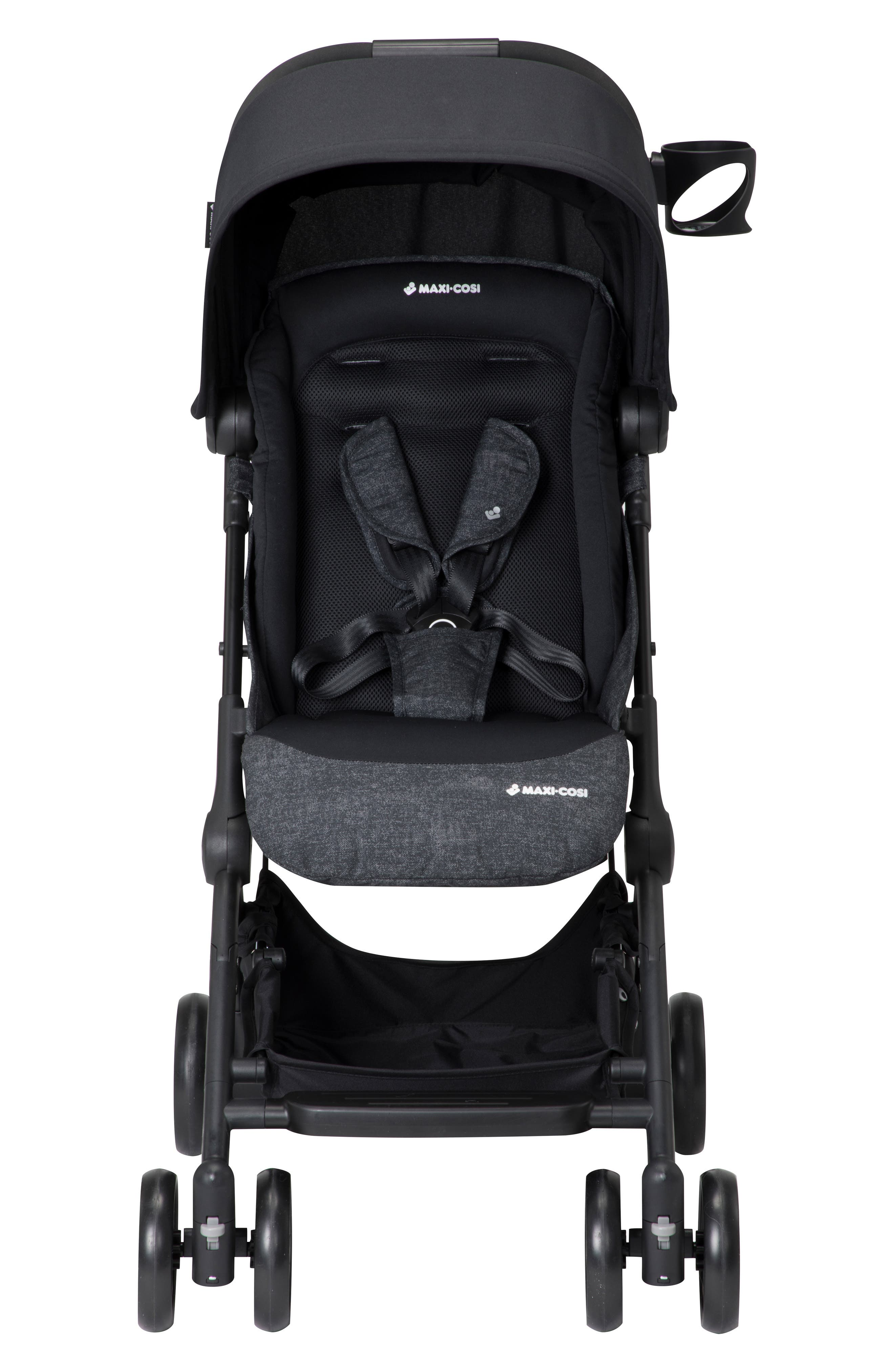 Lara Ultra Compact Stroller,                             Main thumbnail 1, color,                             NOMAD BLACK