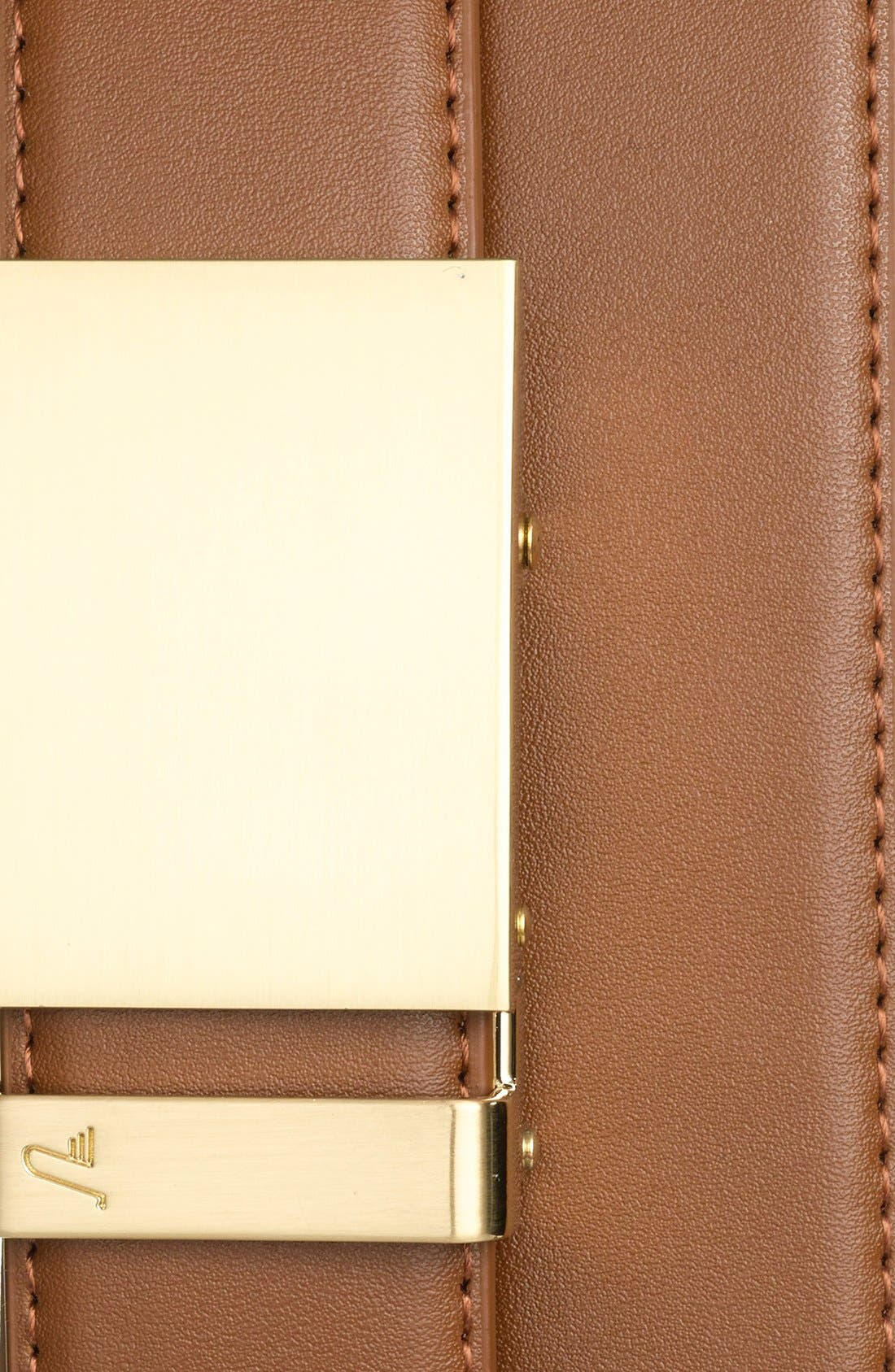 'Gold' Leather Belt,                             Alternate thumbnail 2, color,                             GOLD/ TAN