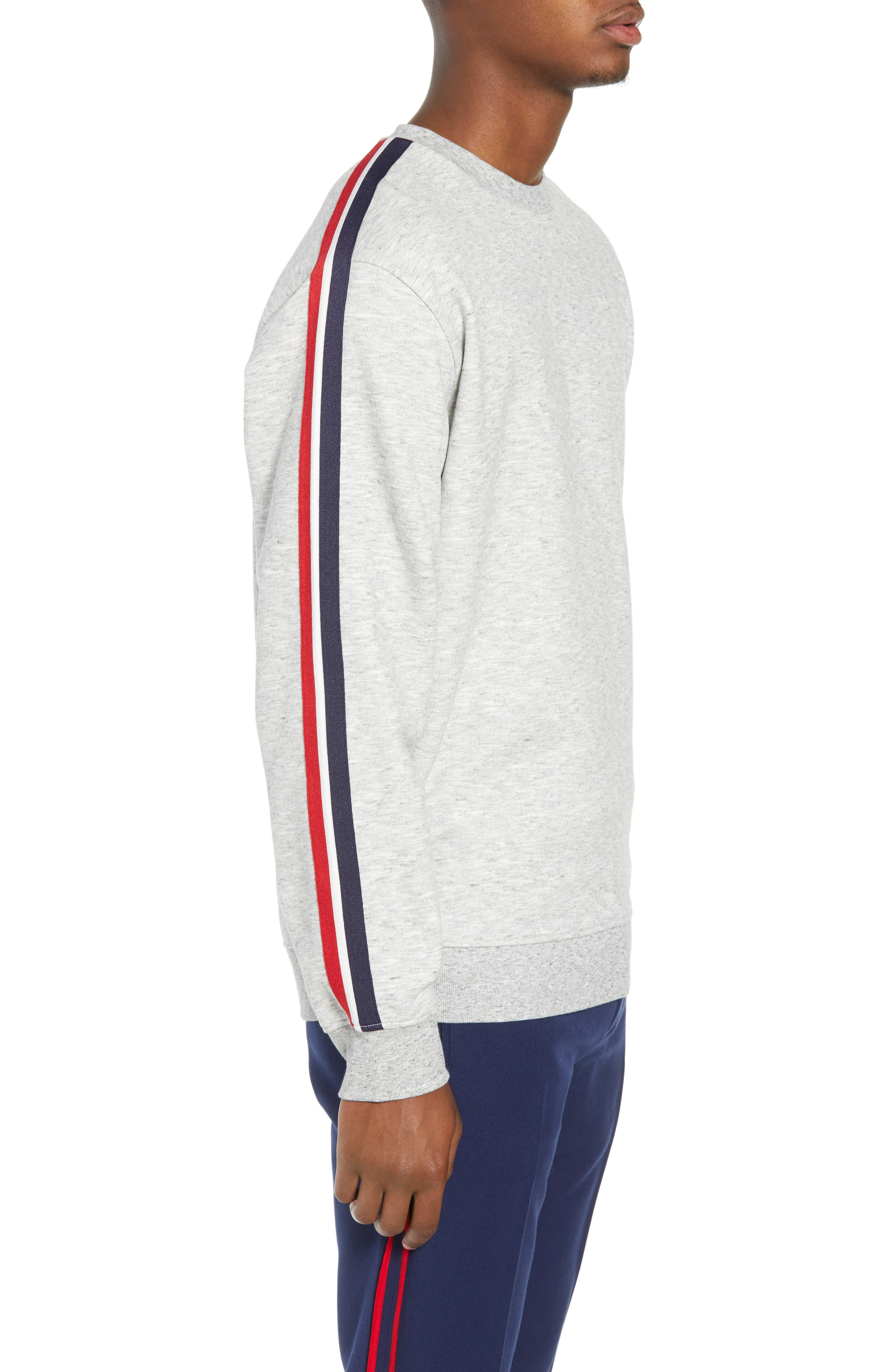 French Stripe Tape Sweatshirt,                             Alternate thumbnail 3, color,                             050