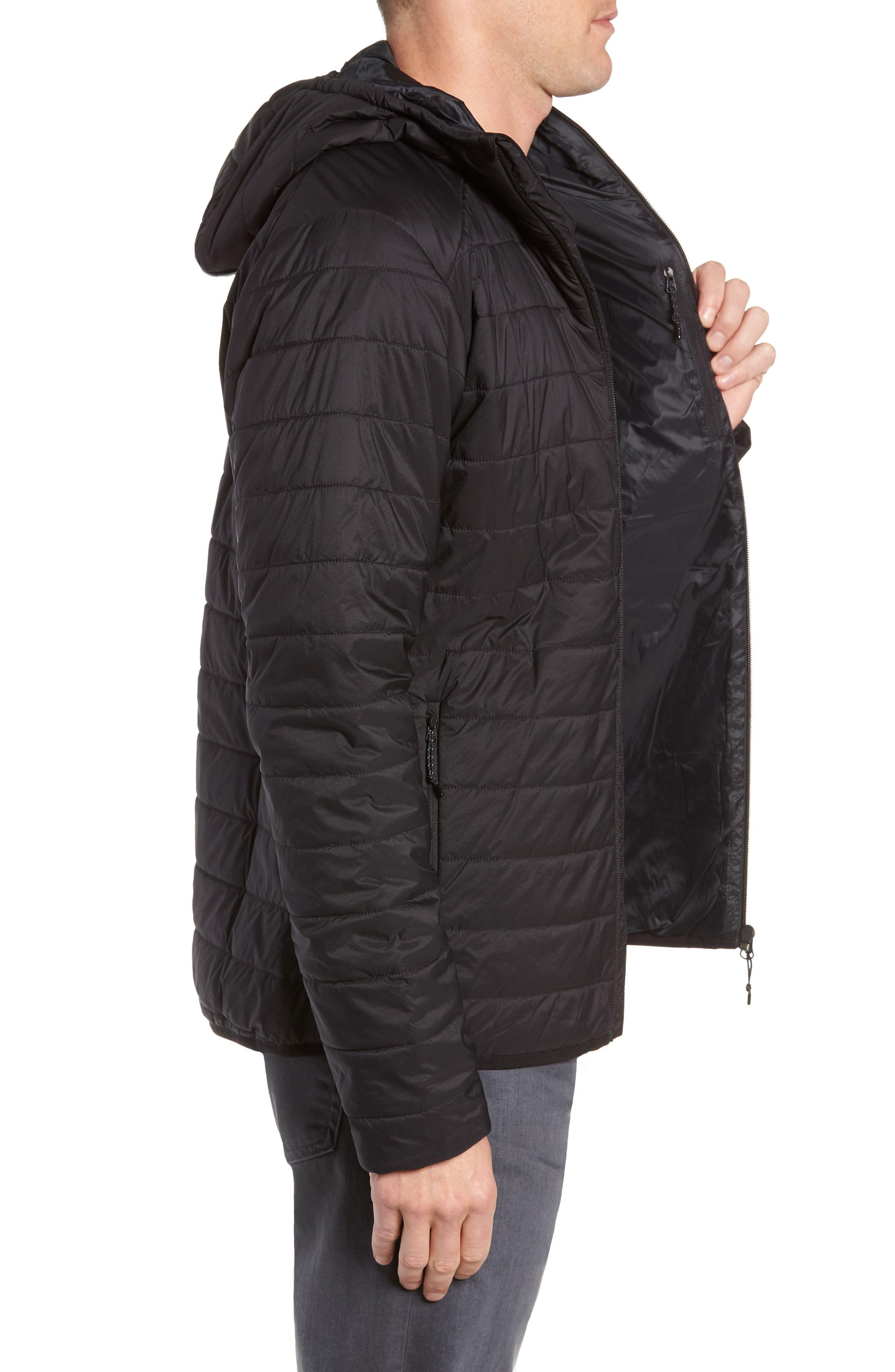 Hyperia MerinoLOFT<sup>™</sup> Hooded Jacket,                             Alternate thumbnail 3, color,                             BLACK