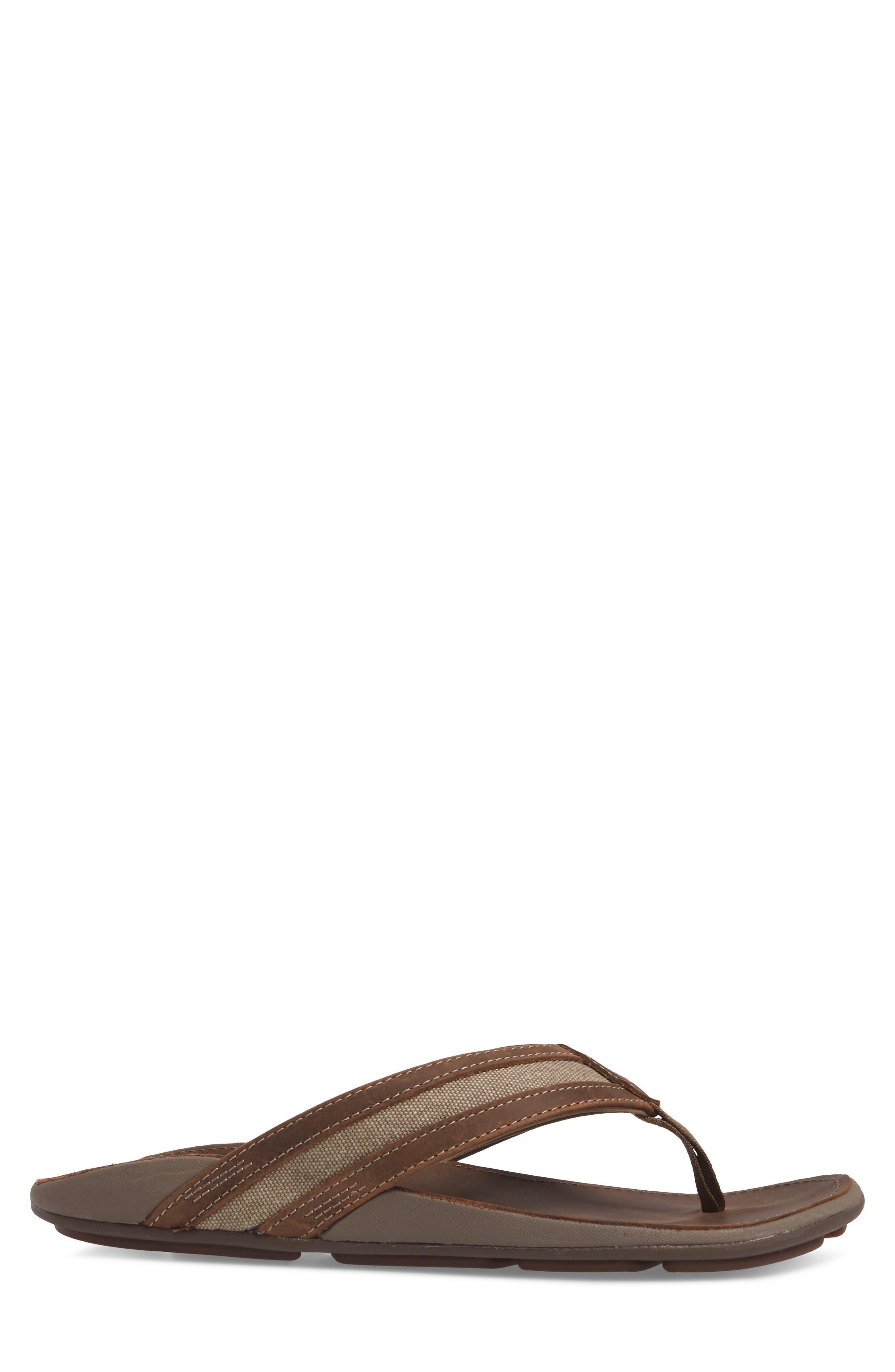 Ikoi Flip Flop,                             Alternate thumbnail 3, color,                             MUSTANG/ MUSTANG LEATHER