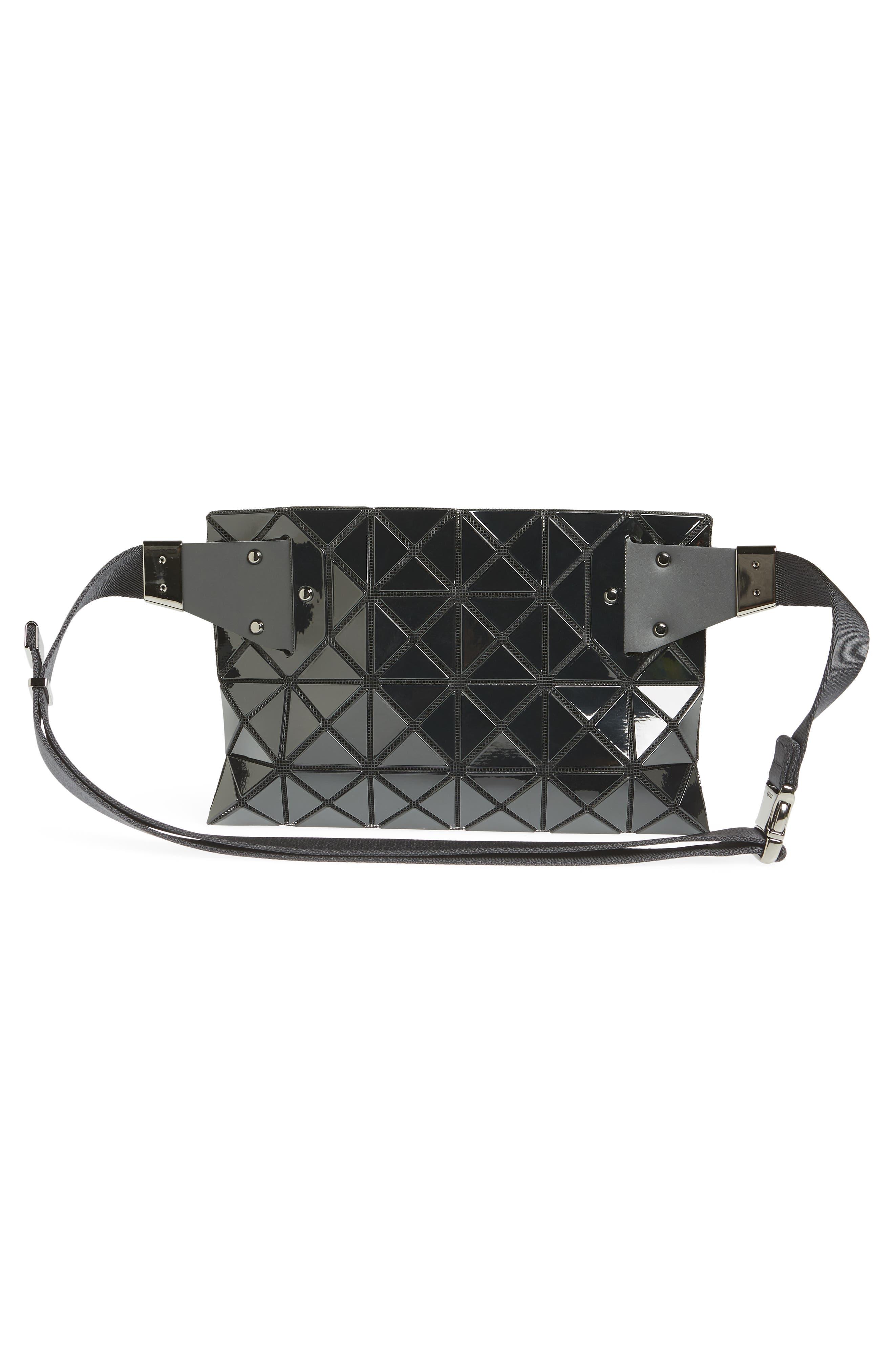 Prism Belt Bag,                             Alternate thumbnail 4, color,                             BLACK