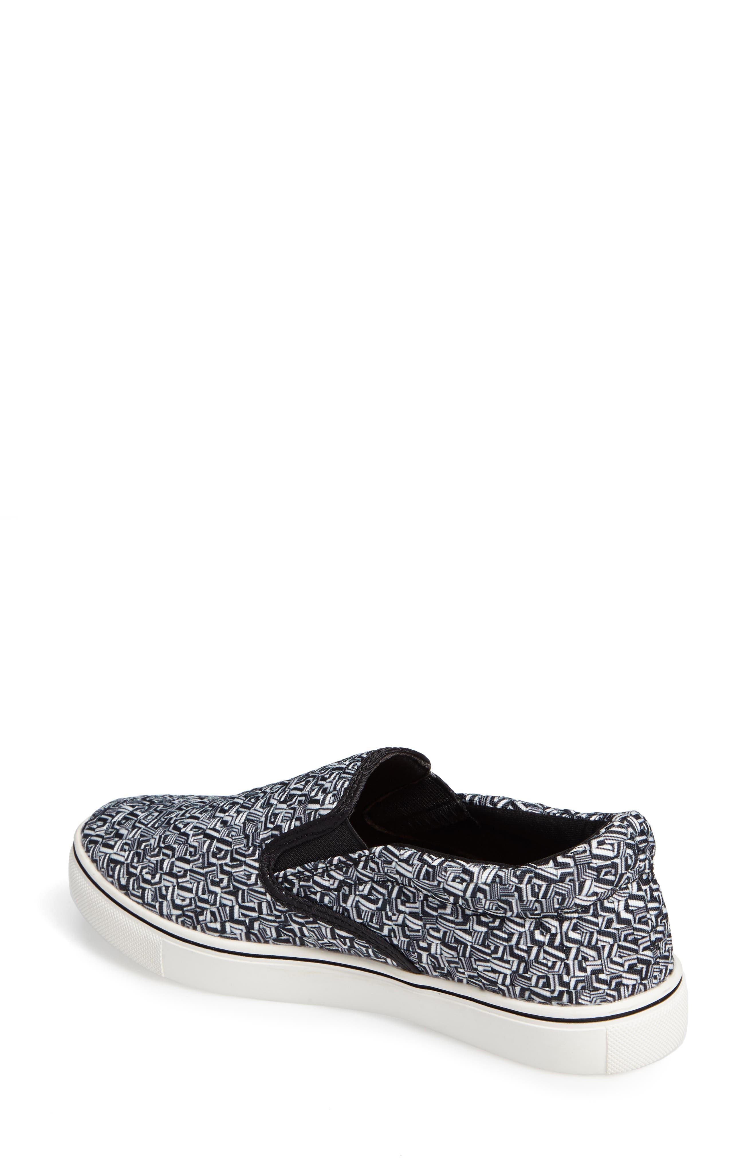 'Verona' Slip-On Sneaker,                             Alternate thumbnail 2, color,                             MARBLE FABRIC