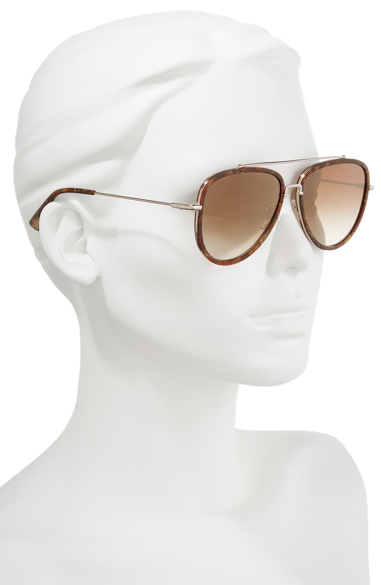 Lincoln 58mm Aviator Sunglasses,                             Alternate thumbnail 7, color,