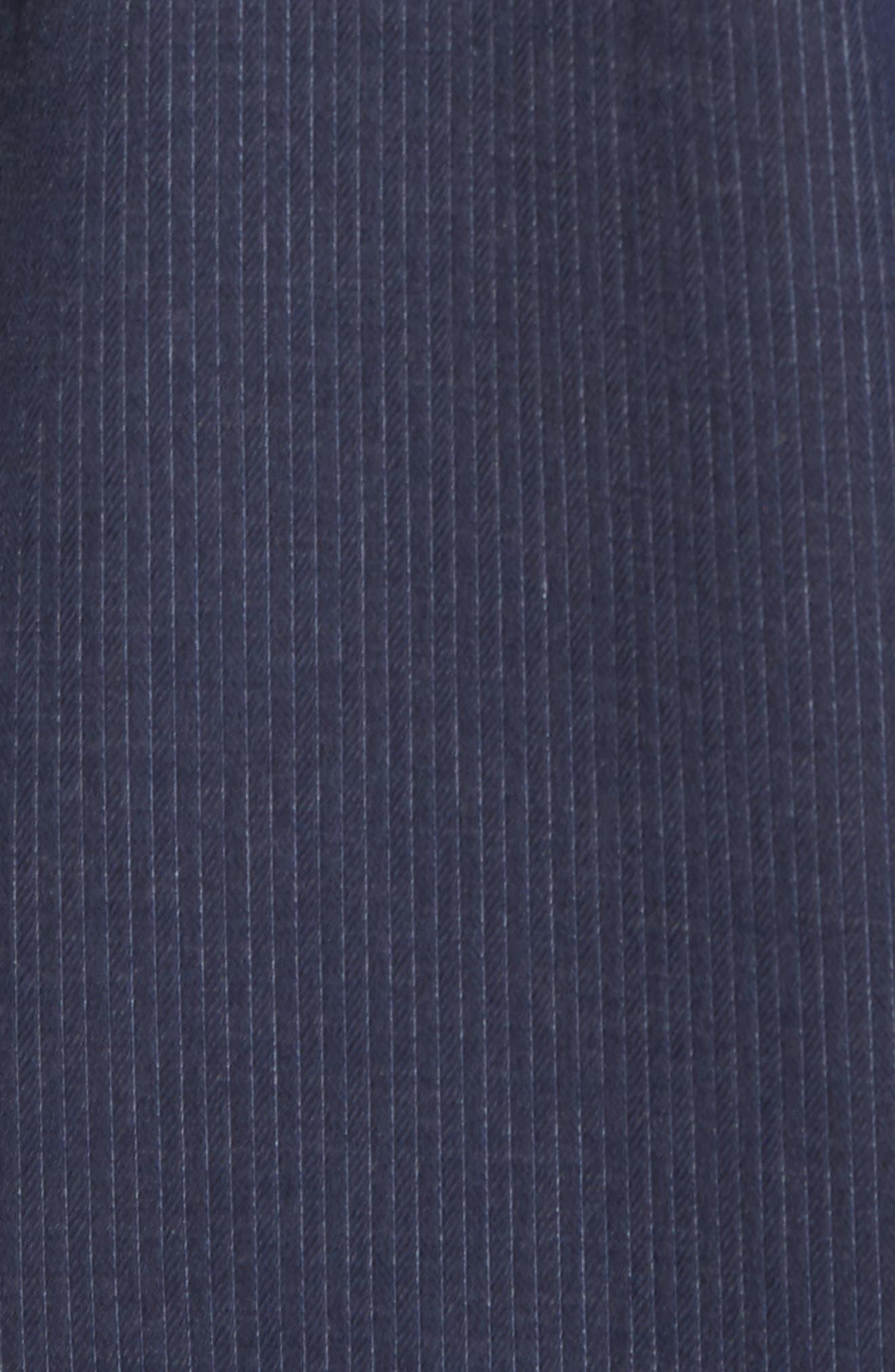 Slim Fit Stripe Workwear Shirt,                             Alternate thumbnail 5, color,                             410