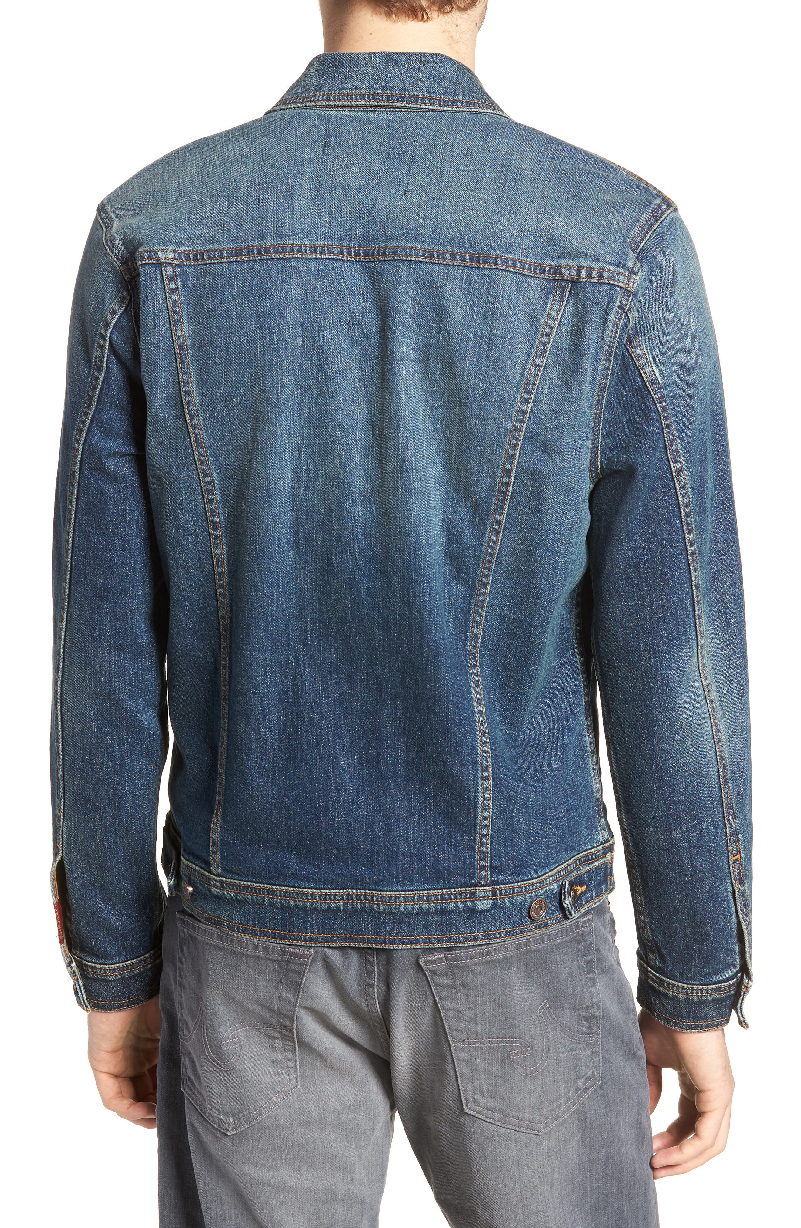 7 FOR ALL MANKIND<SUP>®</SUP>,                             Trucker Jacket,                             Alternate thumbnail 2, color,                             400