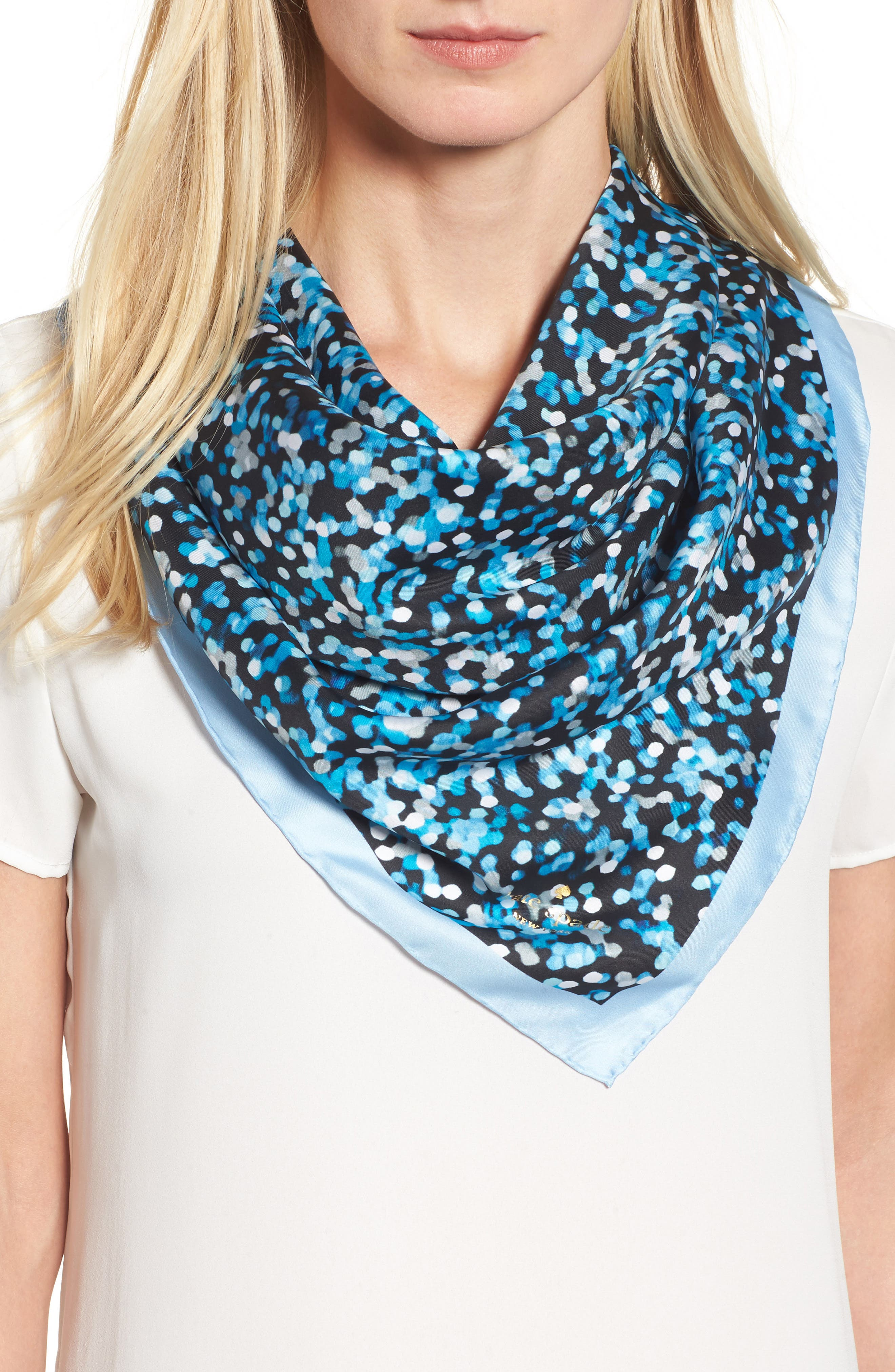 gifting bubbles square silk scarf,                         Main,                         color, 420
