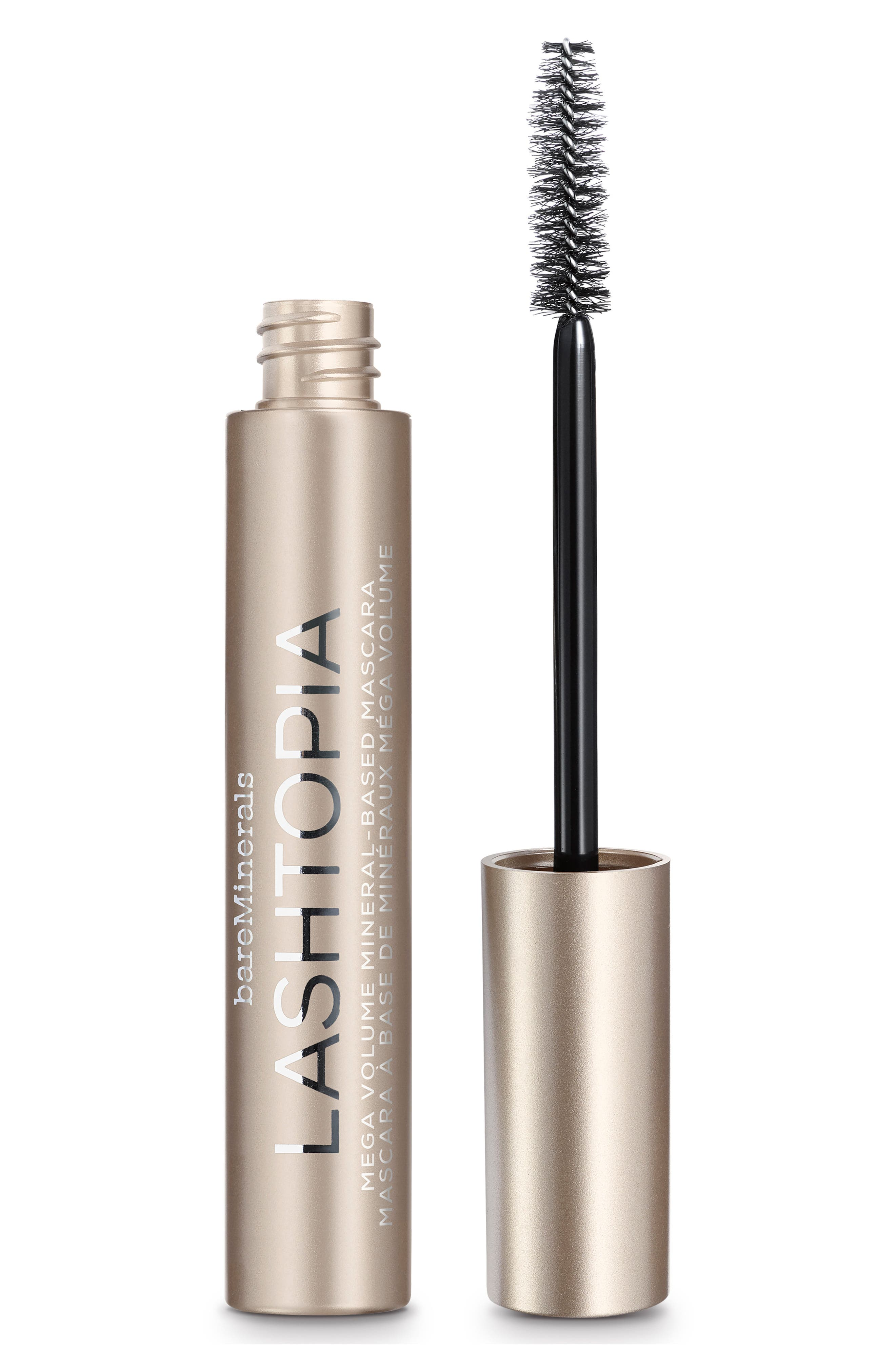 Lashtopia Mega Volume Mineral-Based Mascara,                         Main,                         color, BLACK
