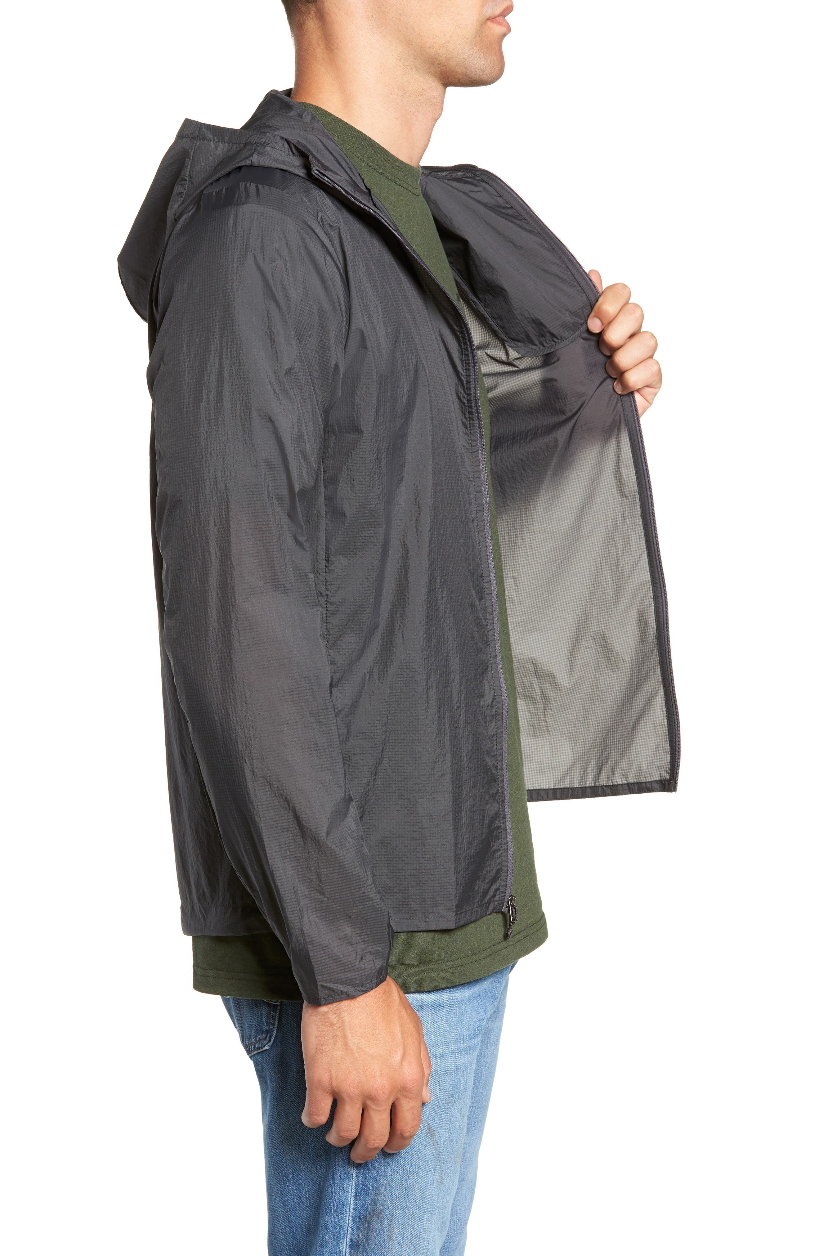 'Houdini' Slim Fit Water Repellent Hooded Jacket,                             Alternate thumbnail 3, color,                             FORGE GREY/ FORGE GREY